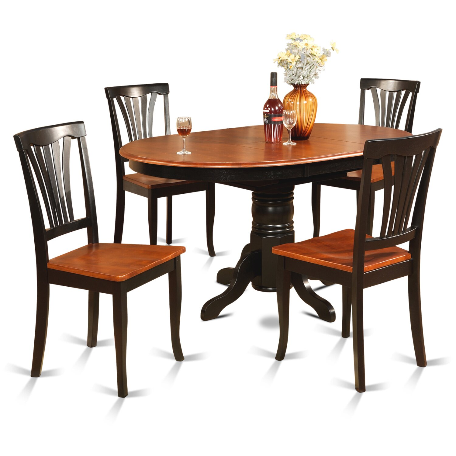 Wooden importers avon 5 piece dining set reviews wayfair for Wooden dining set