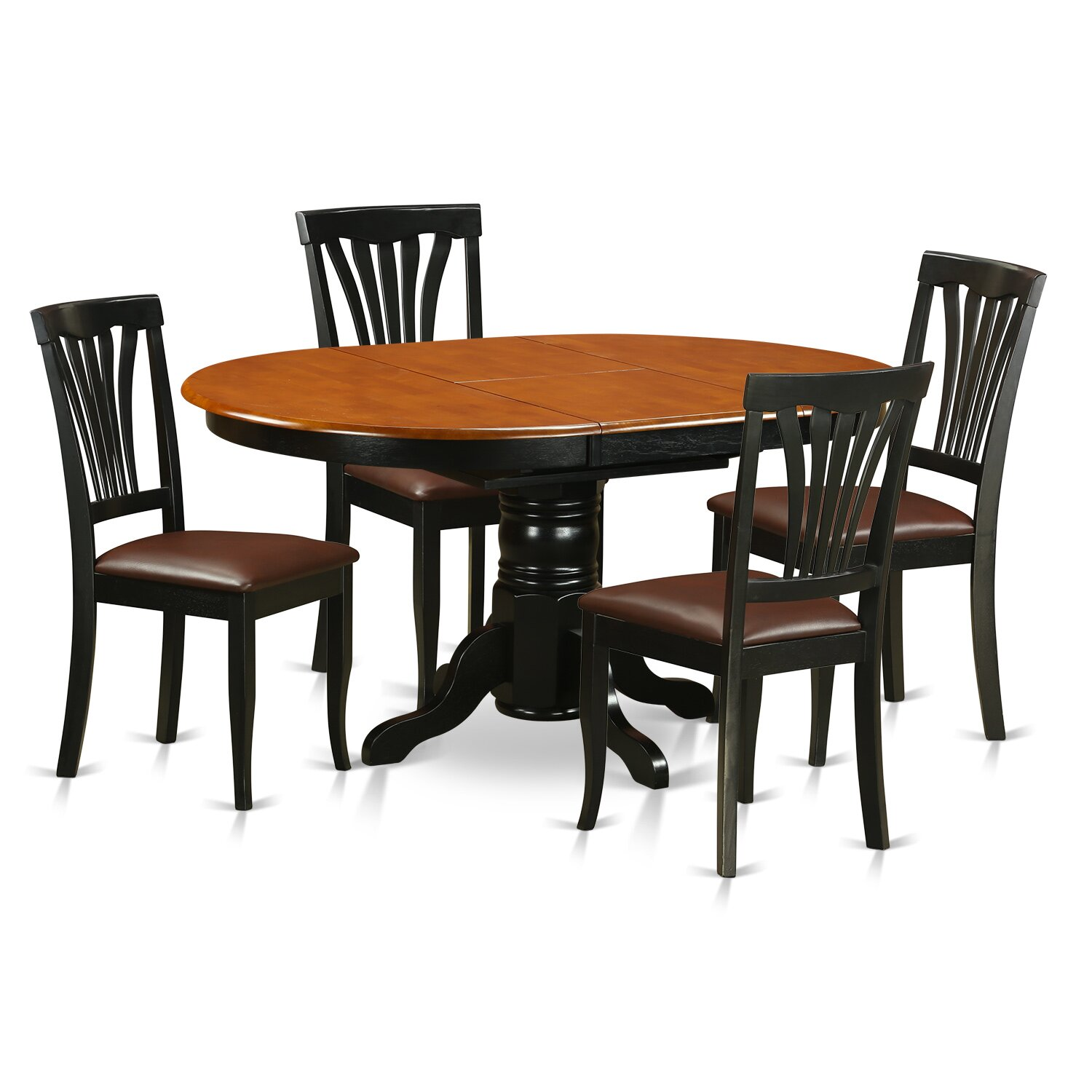 Wooden importers avon 5 piece dining set reviews for Wooden dining set