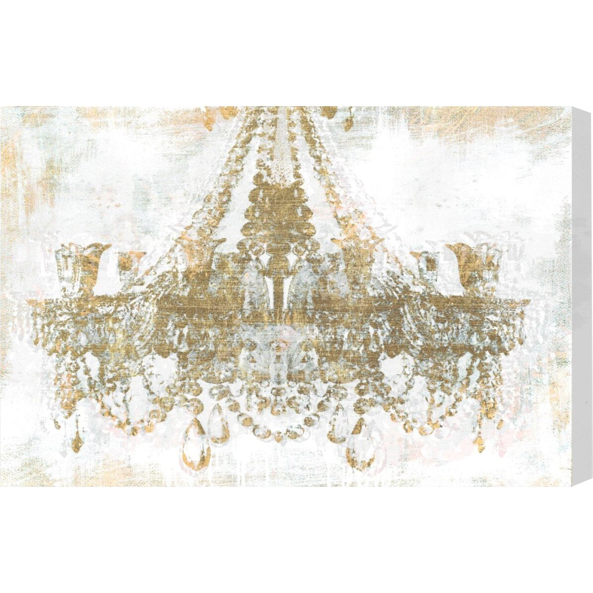 Oliver gal gold diamonds faded graphic art on canvas for Gold paintings on canvas
