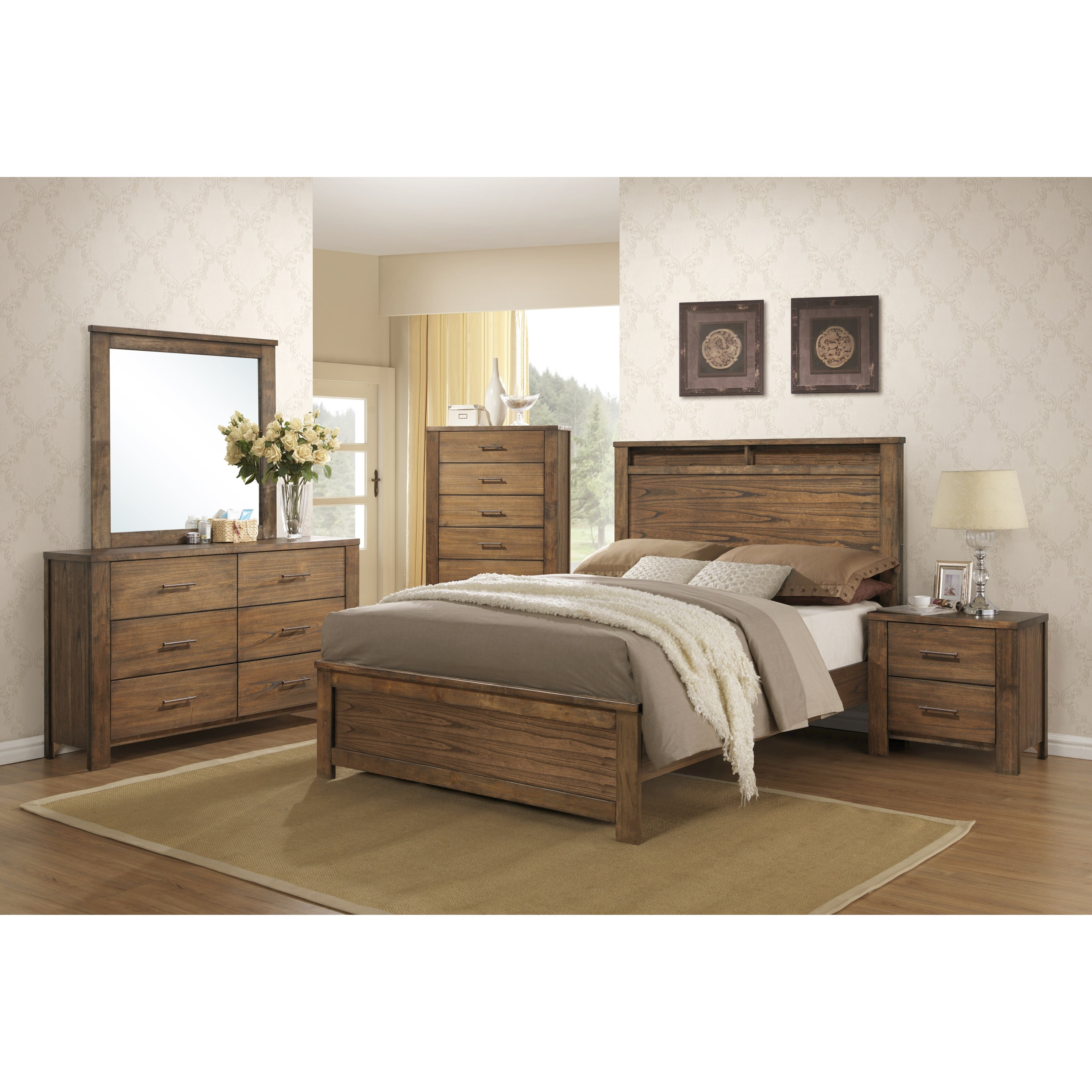Progressive Furniture Brayden Panel Customizable Bedroom