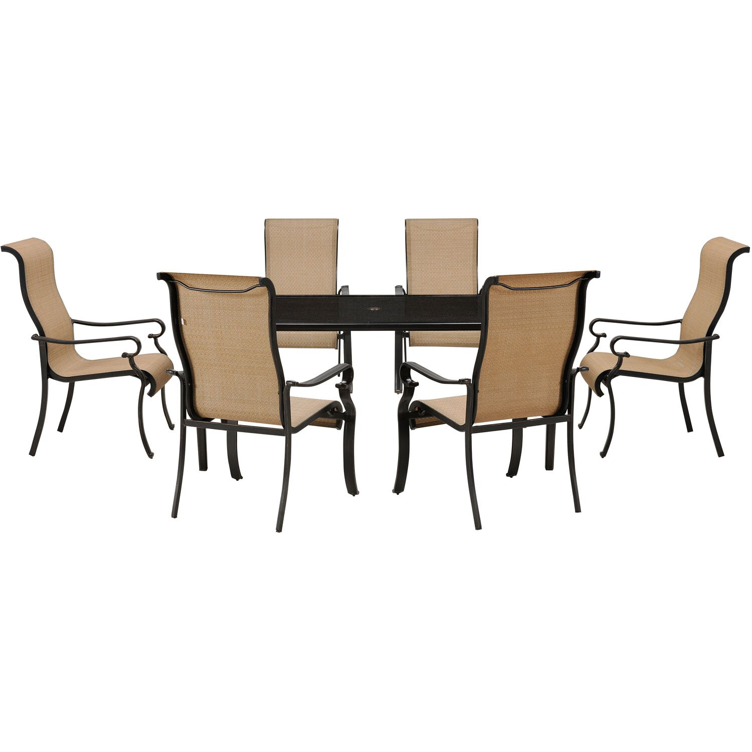 Hanover brigantine 7 piece dining set reviews wayfair for 7 piece dining set