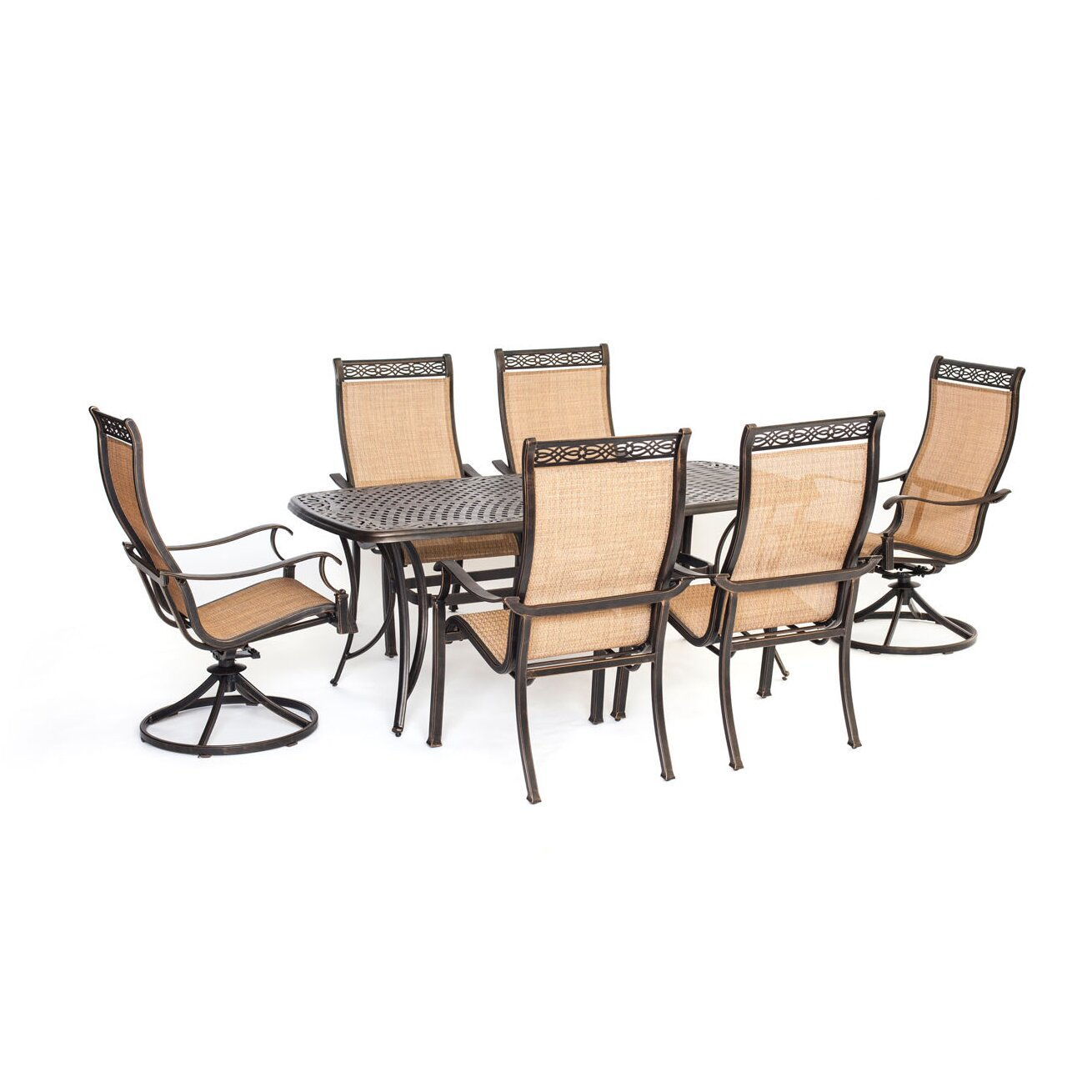 Hanover manor 7 piece dining set wayfair for 7 piece dining set