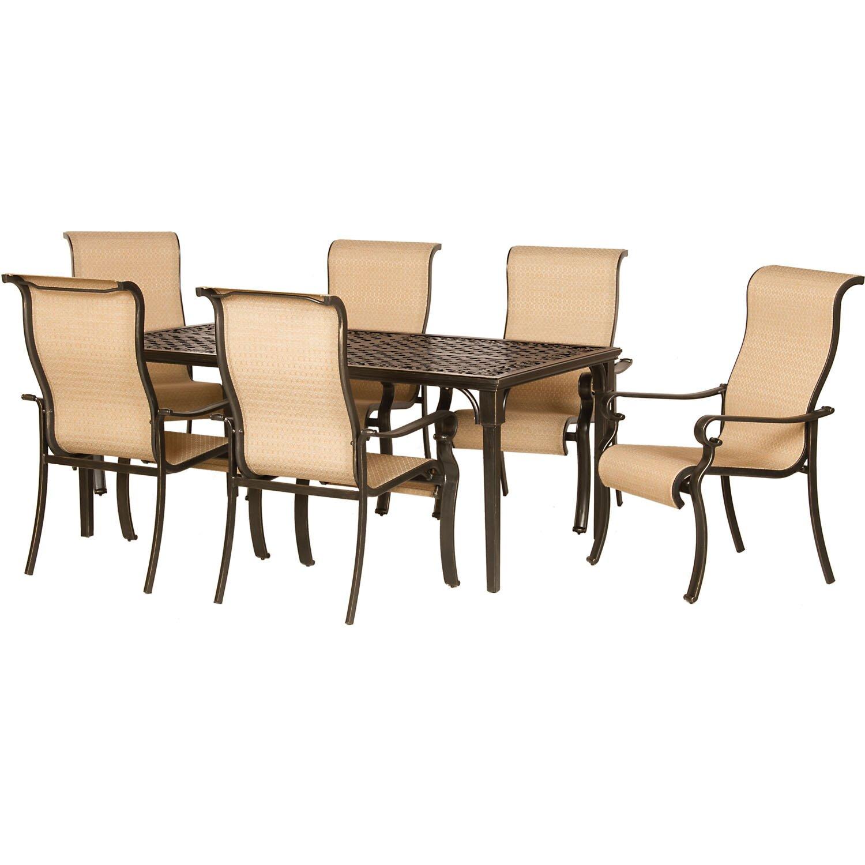 hanover brigantine 7 piece outdoor dining set reviews wayfair