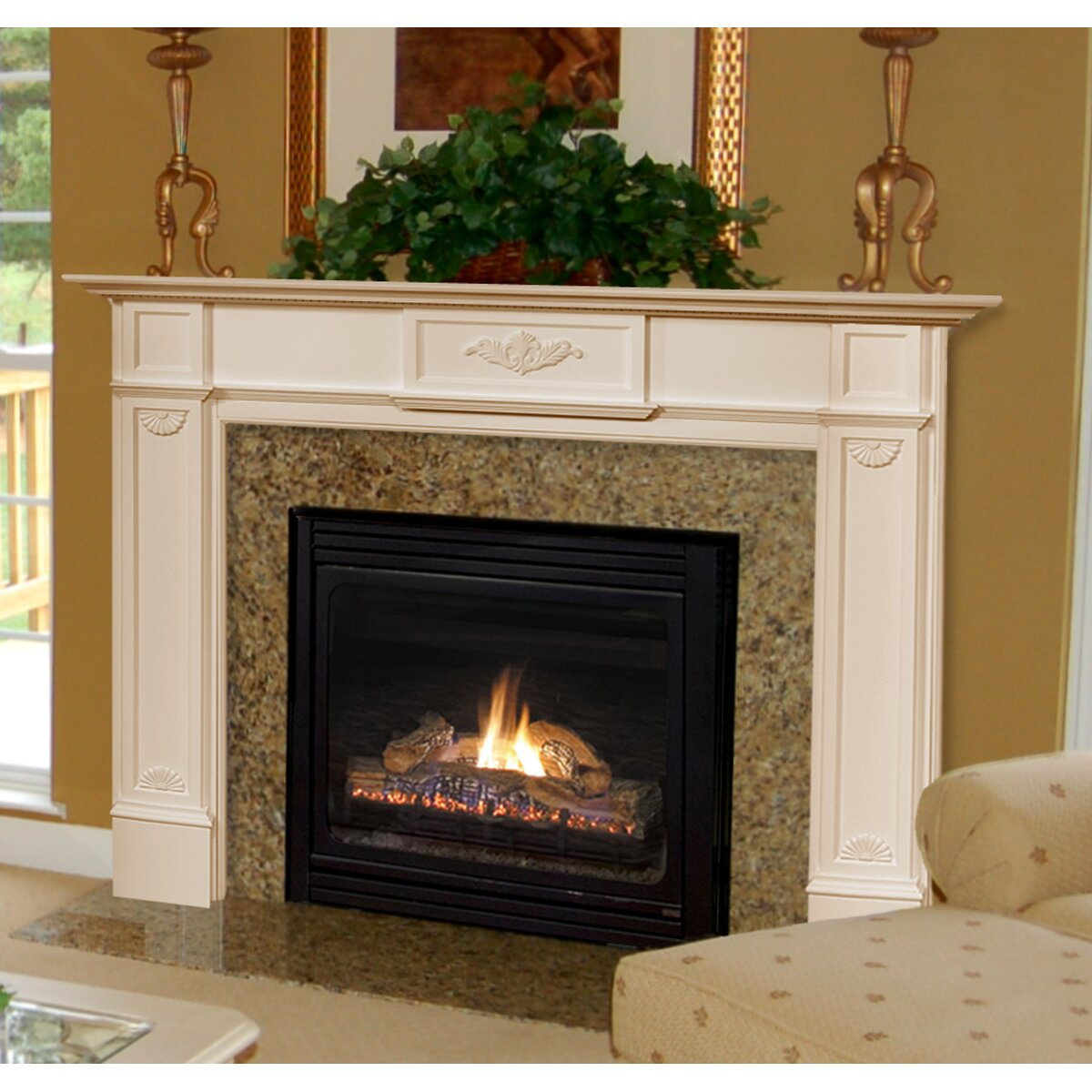 Pearl Mantels 56 Monticello Fireplace Mantel Surround