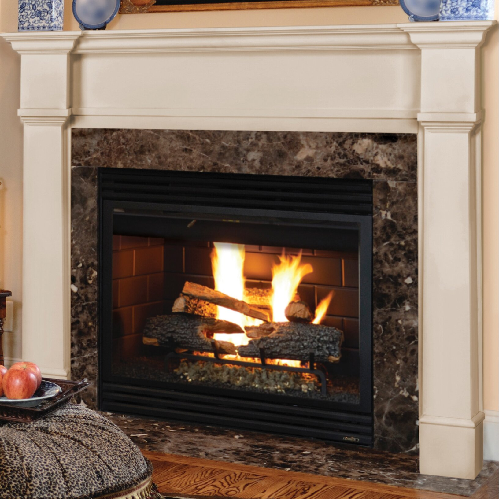 pearl mantels richmond fireplace mantel surround reviews wayfair. Black Bedroom Furniture Sets. Home Design Ideas