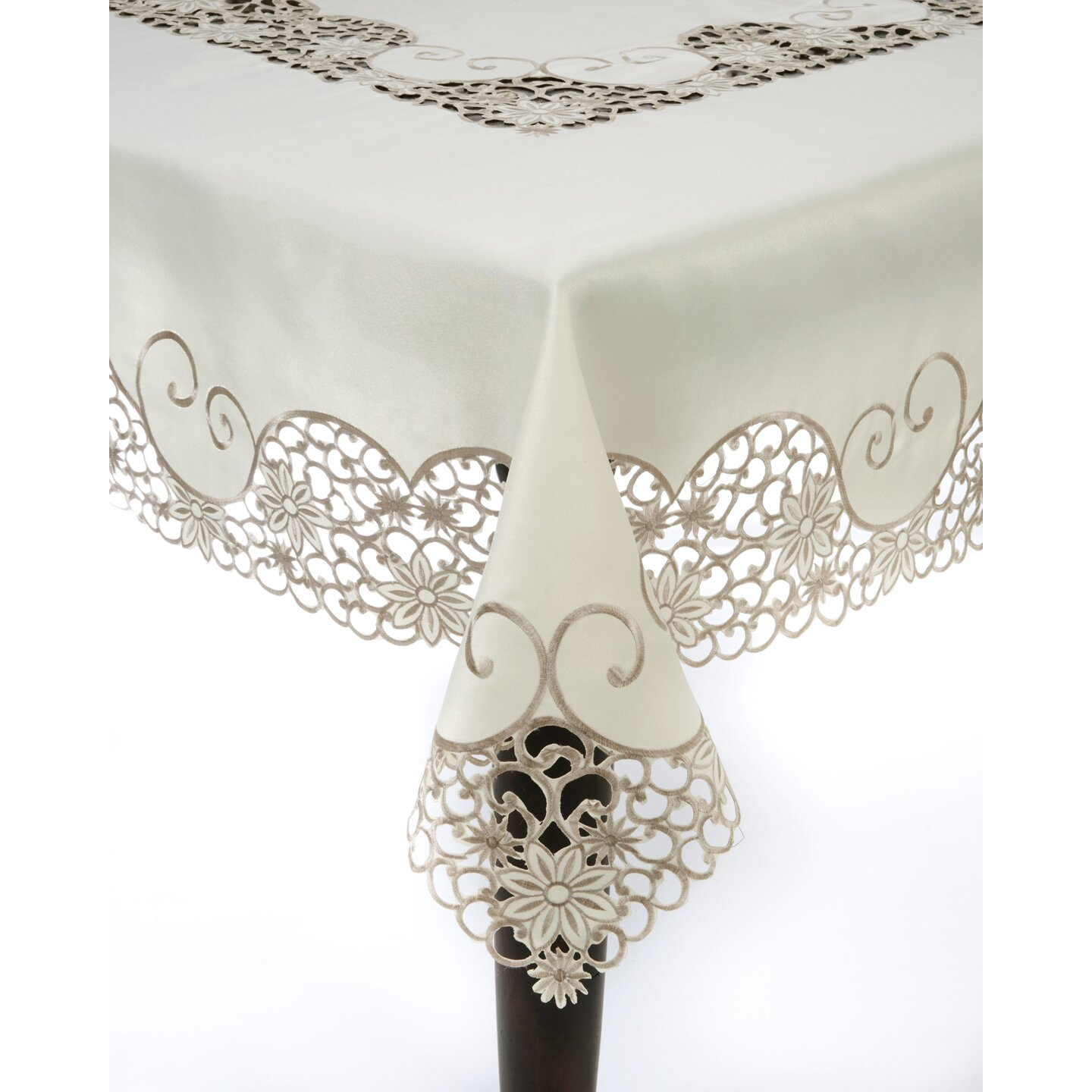 Saro embroidery and cutwork tablecloth reviews for Glass cut work designs
