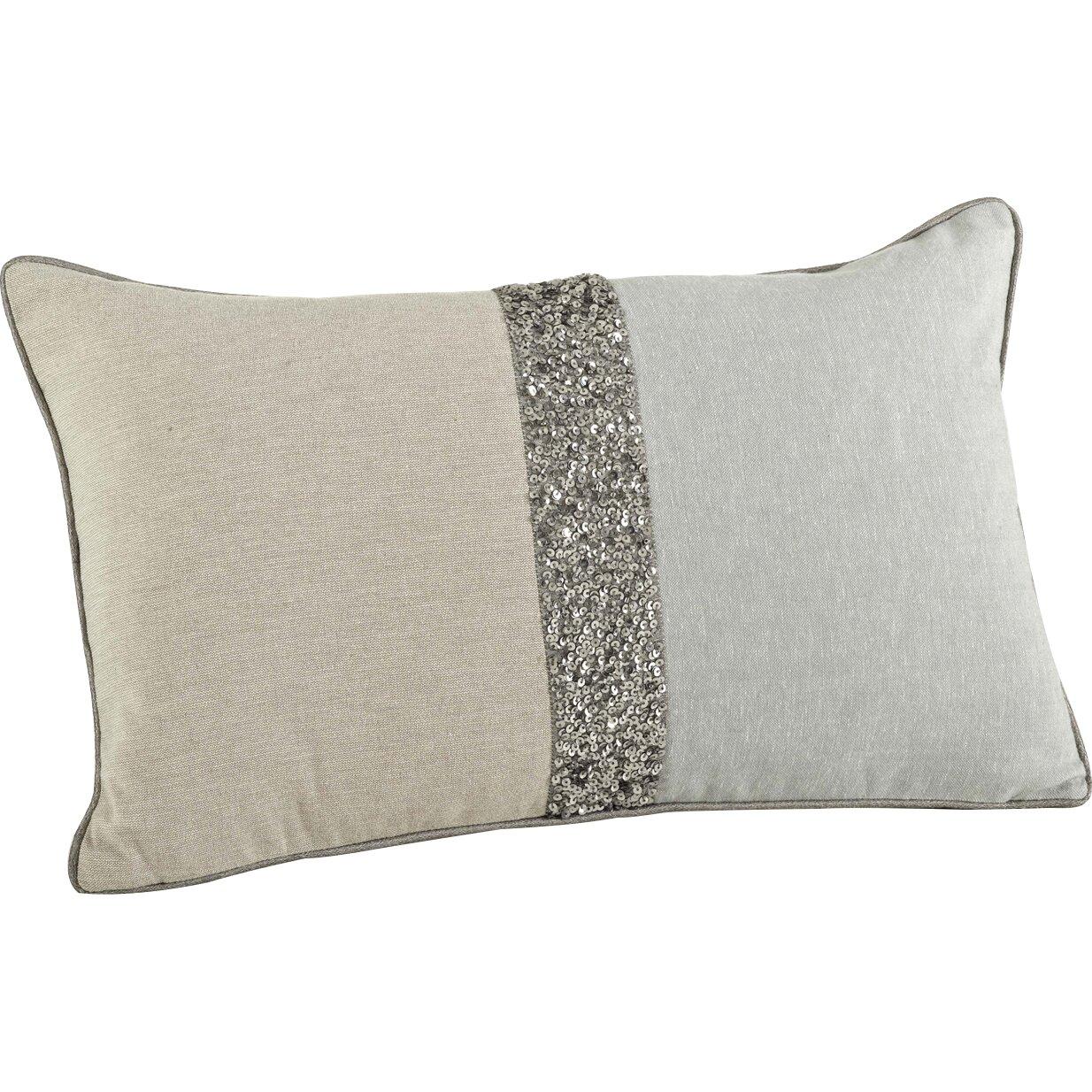 Saro The Posh 2 Tone Beaded Cotton Throw Pillow & Reviews Wayfair