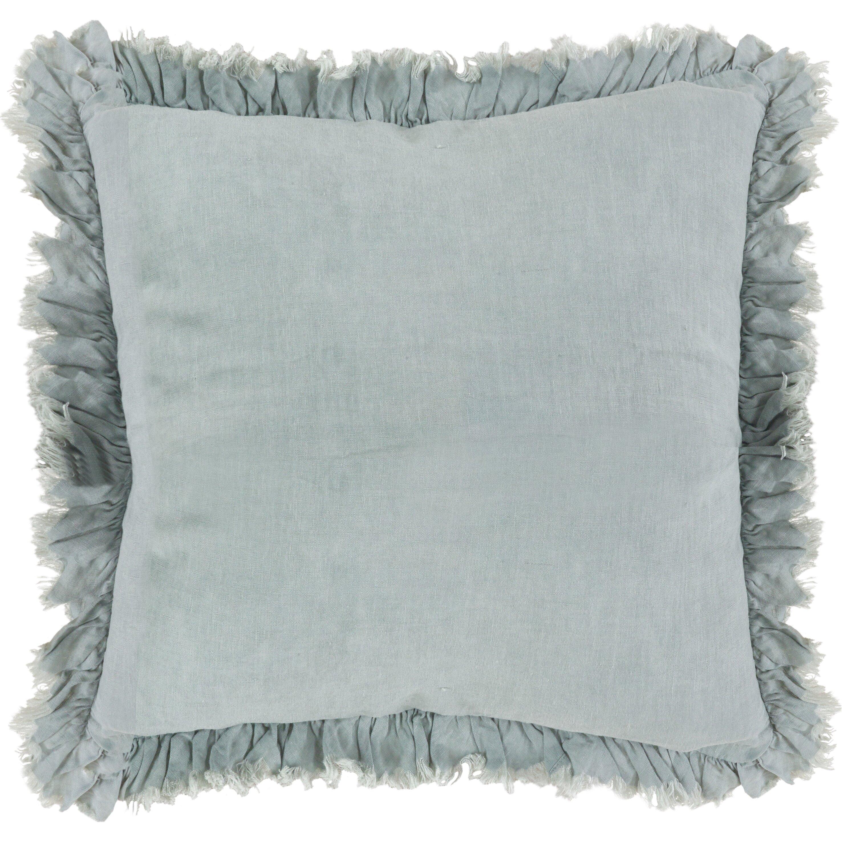 Saro Ruffled Linen Throw Pillow & Reviews Wayfair