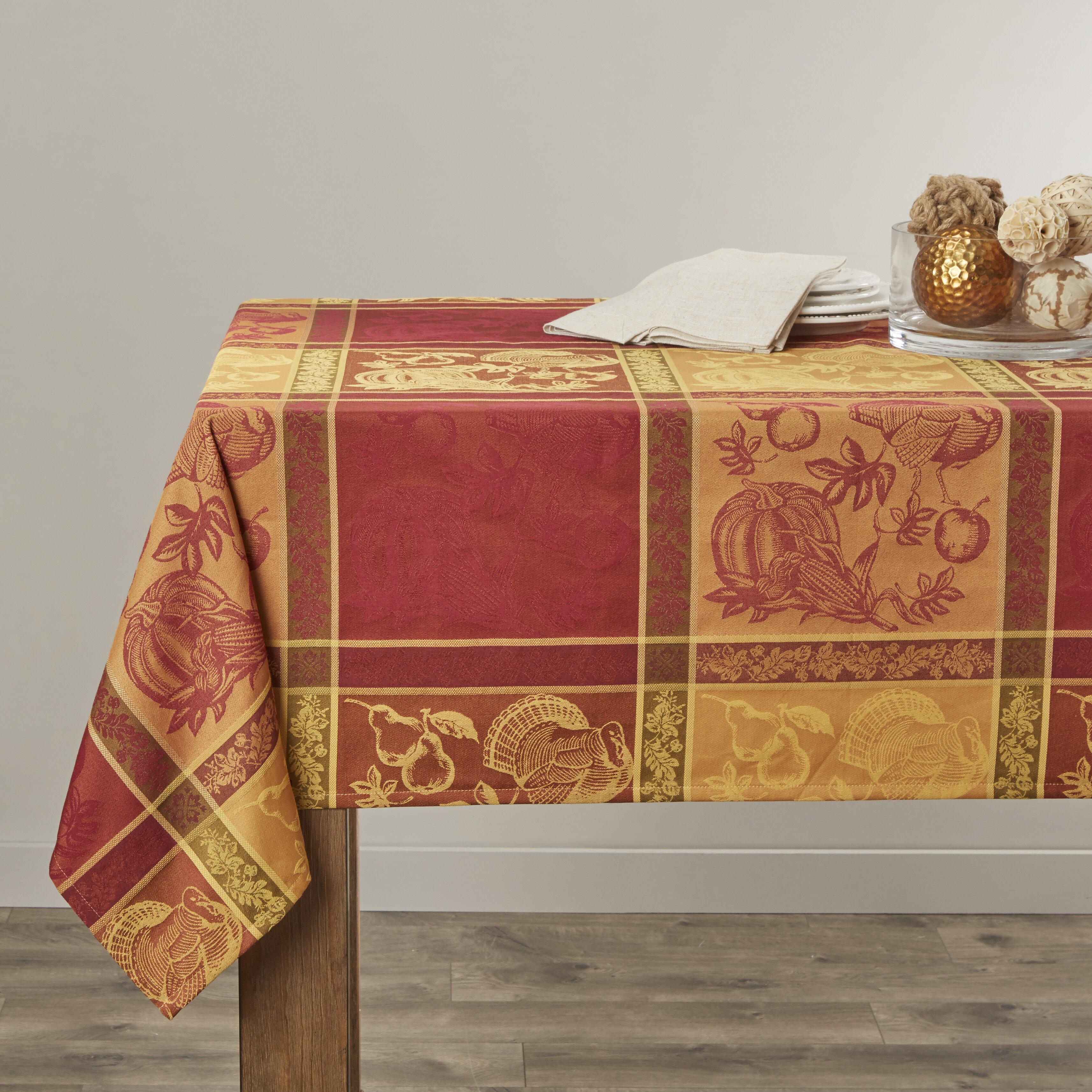 Saro Thanksgiving Tablecloth Amp Reviews Wayfair