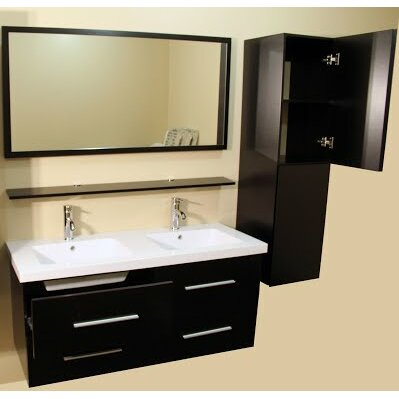 Kokols 48 Quot Double Bathroom Vanity Set With Mirror