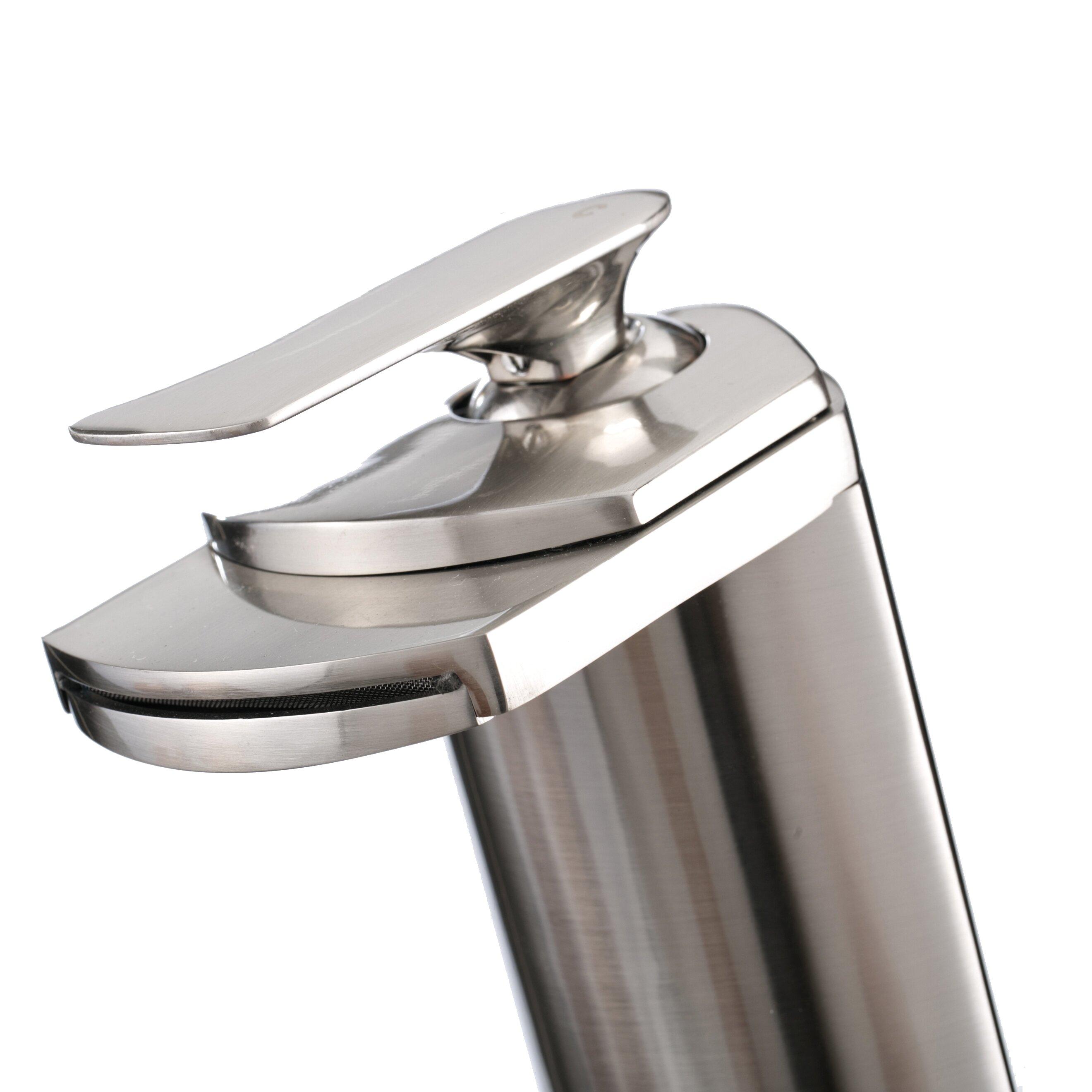 Kokols Single Handle Single Hole Vessel Bathroom Waterfall Faucet Reviews Wayfair