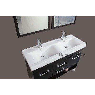 kokols 48 quot  double bathroom vanity set with mirror 48 Double Sink Vanity Top Ski Bathroom Vanity