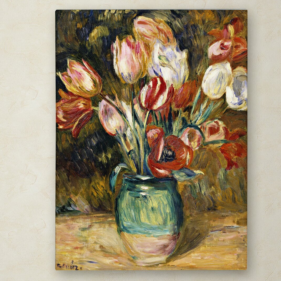 trademark art vase de fleurs 1888 89 by pierre auguste renoir painting print on wrapped canvas. Black Bedroom Furniture Sets. Home Design Ideas