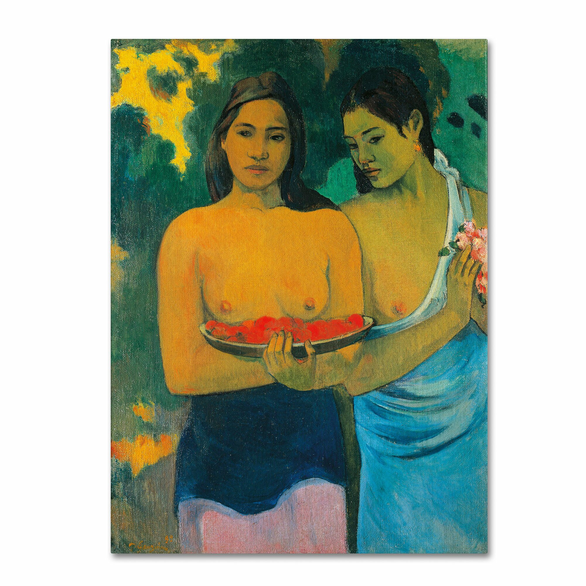 Trademark Art Two Tahitian Women 1899 By Paul Gauguin