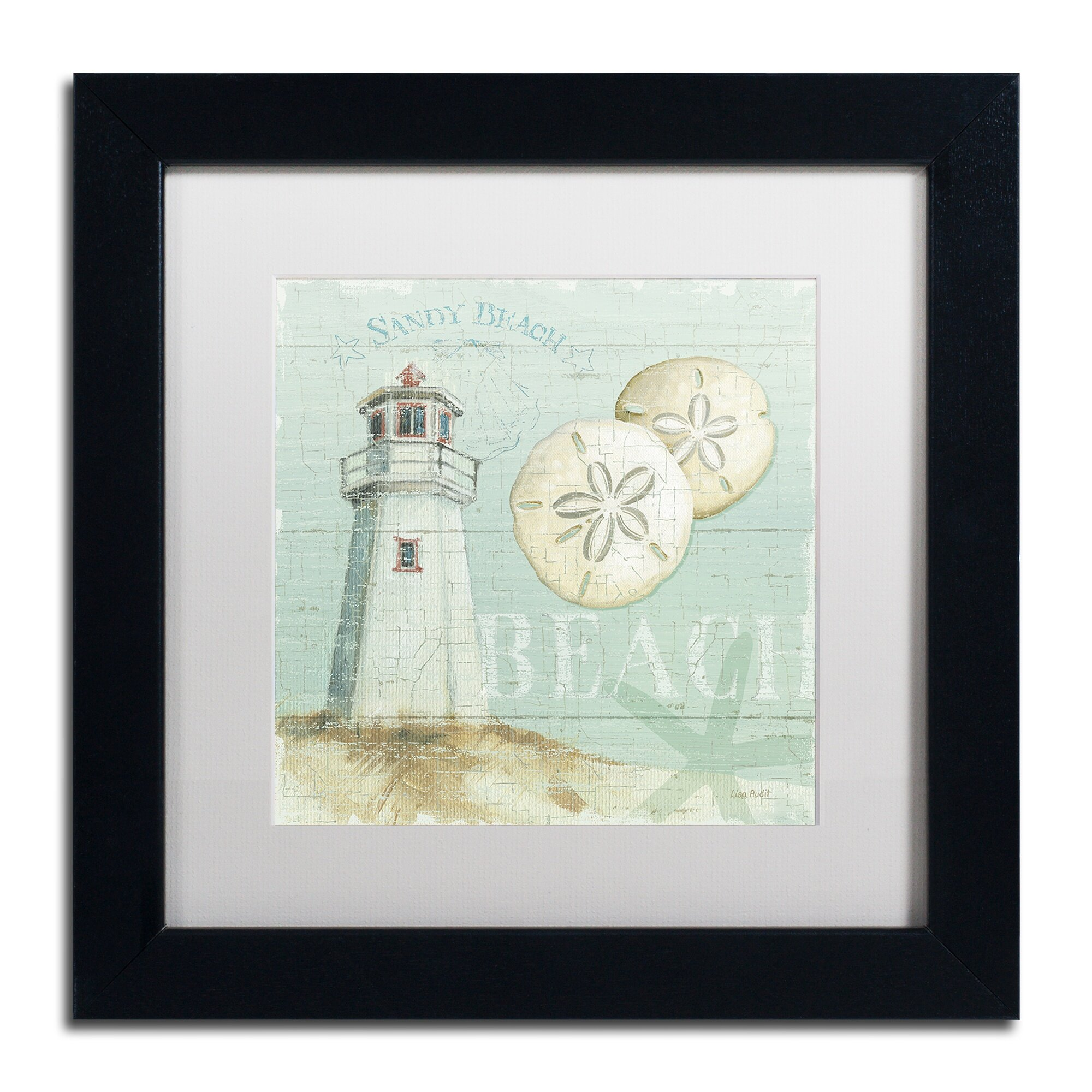 Trademark art beach house i by lisa audit framed for Beach house prints