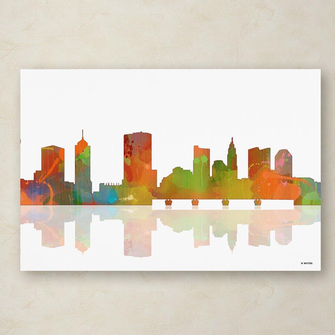 Trademark Art Columbus Ohio Skyline Ii By Marlene Watson