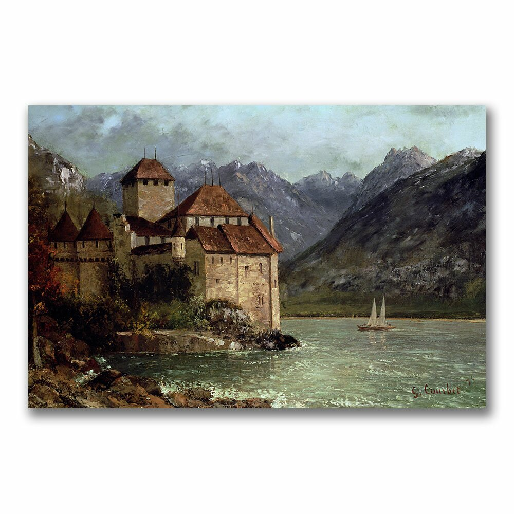 trademark art the chateau de chillon by gustave courbet. Black Bedroom Furniture Sets. Home Design Ideas