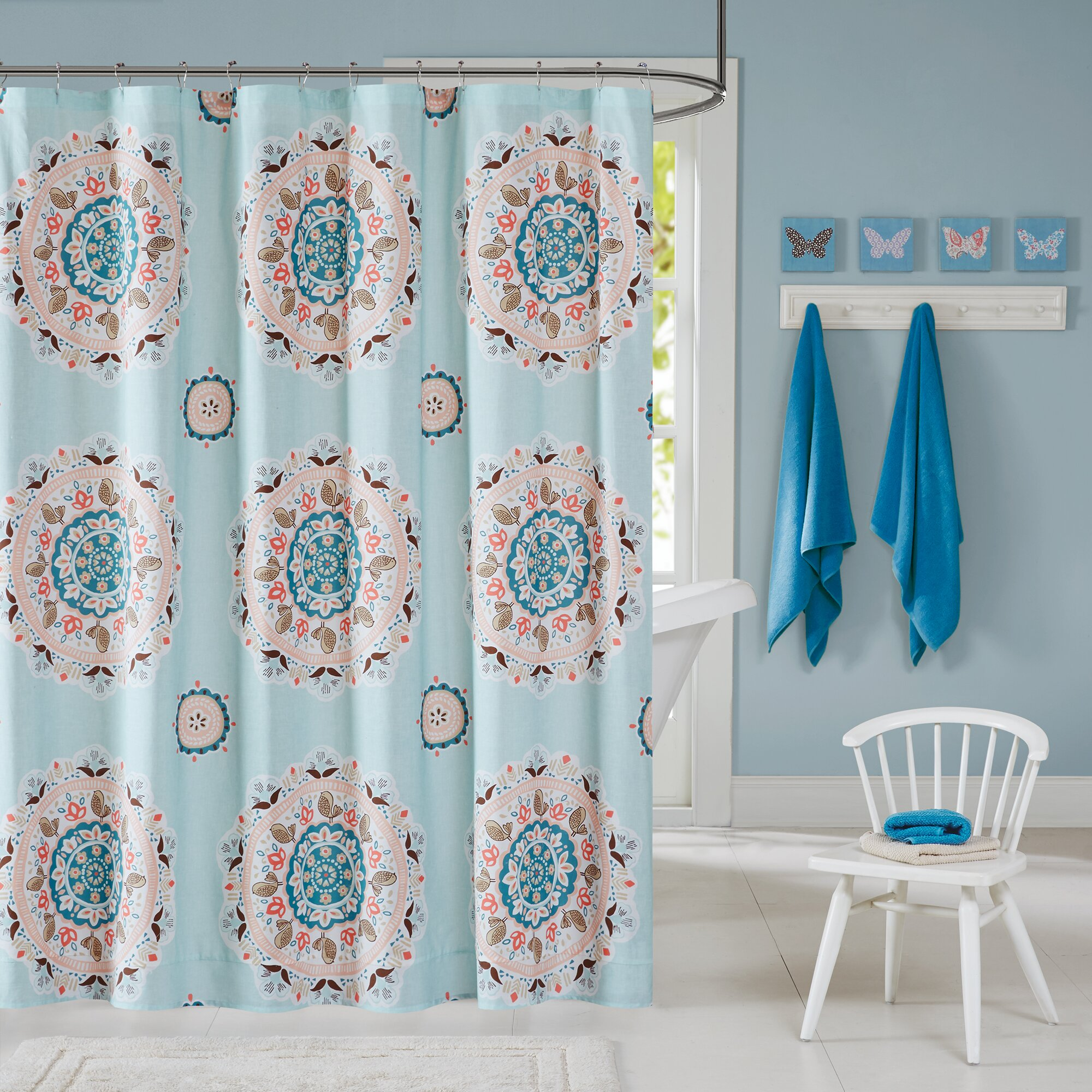 Ink Ivy Hana Cotton Printed Shower Curtain Amp Reviews