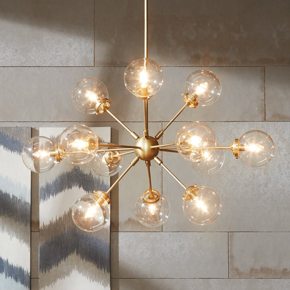 Ink ivy paige 12 light sputnik chandelier reviews wayfair - Ceiling lights and chandeliers ...