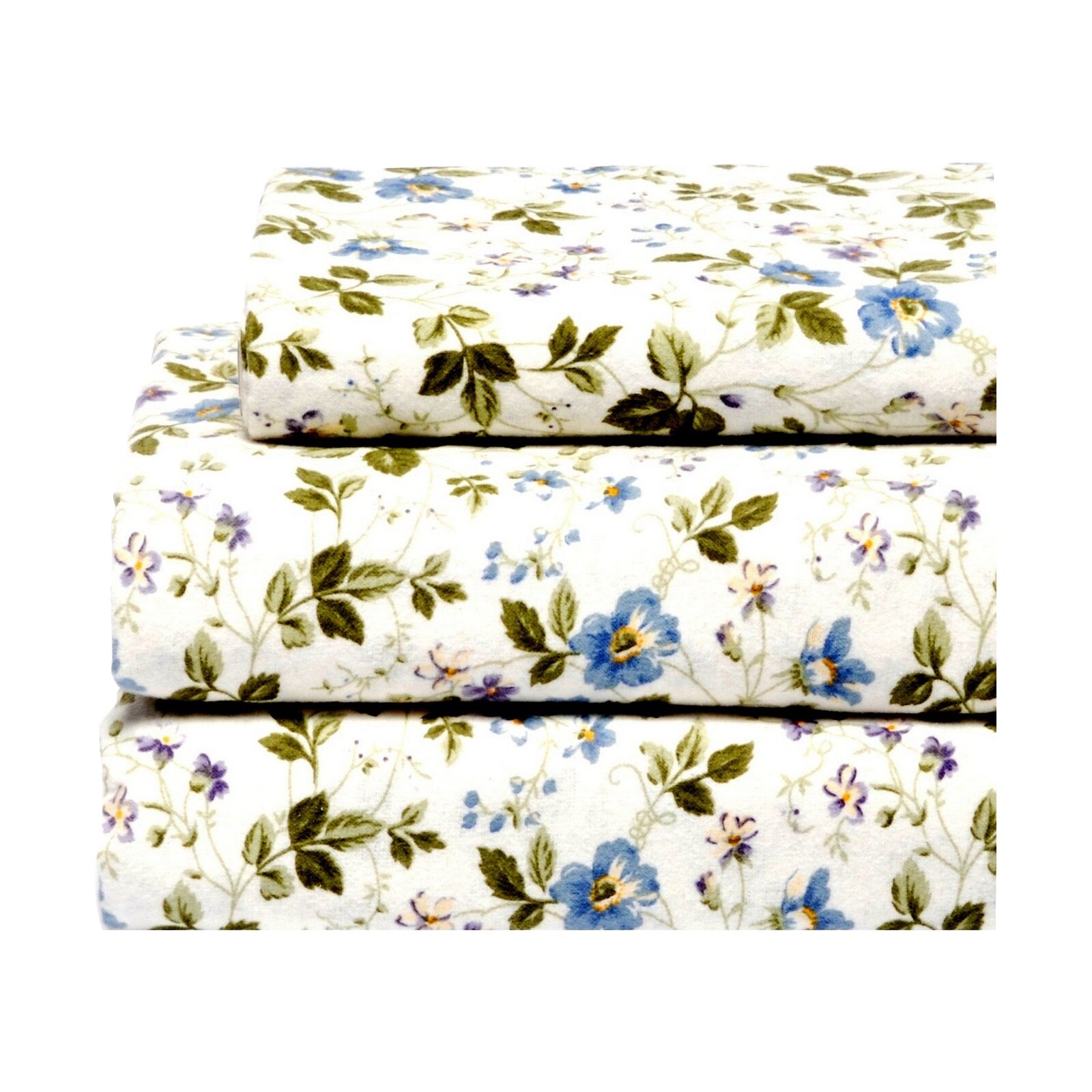 Laura Ashley Flannel Queen Sheet Set: Laura Ashley Home Spring Bloom Flannel 4 Piece Sheet Set
