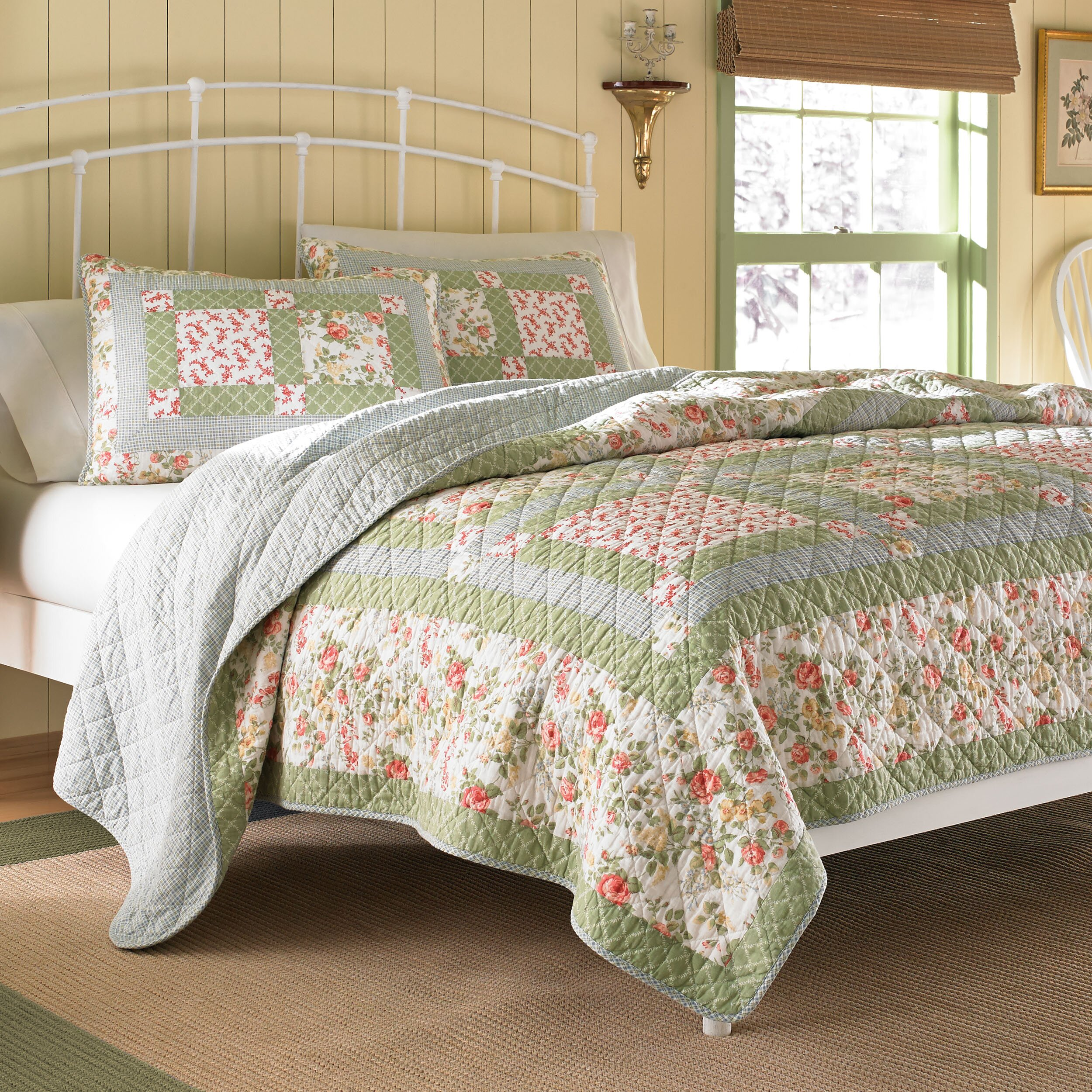laura ashley home abbot cotton quilt reviews wayfair. Black Bedroom Furniture Sets. Home Design Ideas