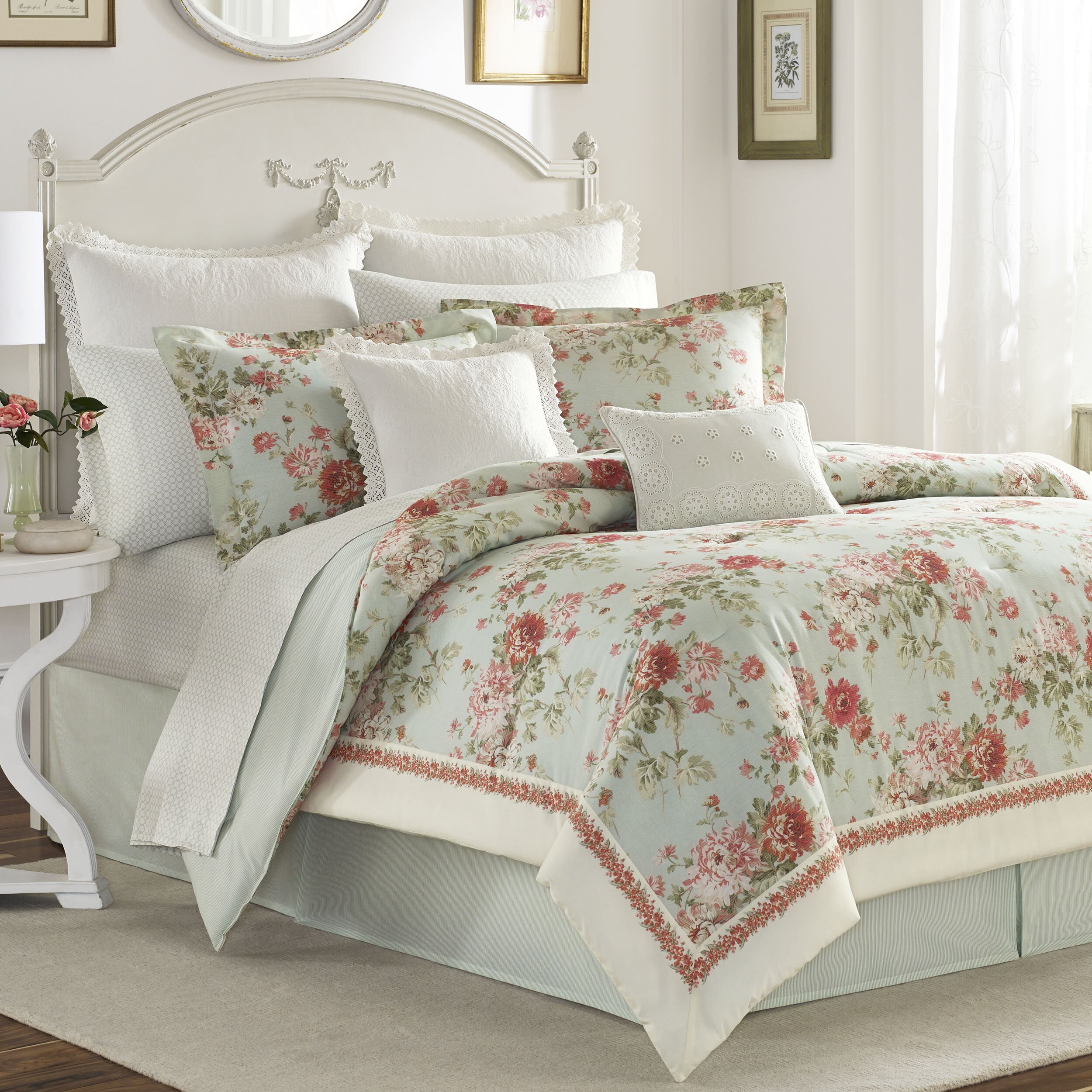 laura ashley bedding vivienne comforter collection. Black Bedroom Furniture Sets. Home Design Ideas
