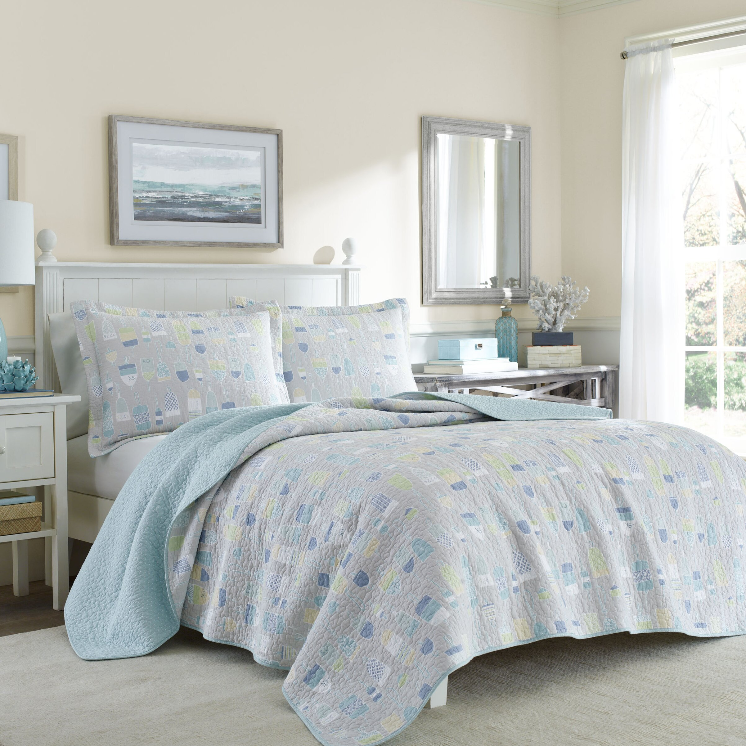 laura ashley home bridgets buoy quilt set reviews wayfair. Black Bedroom Furniture Sets. Home Design Ideas