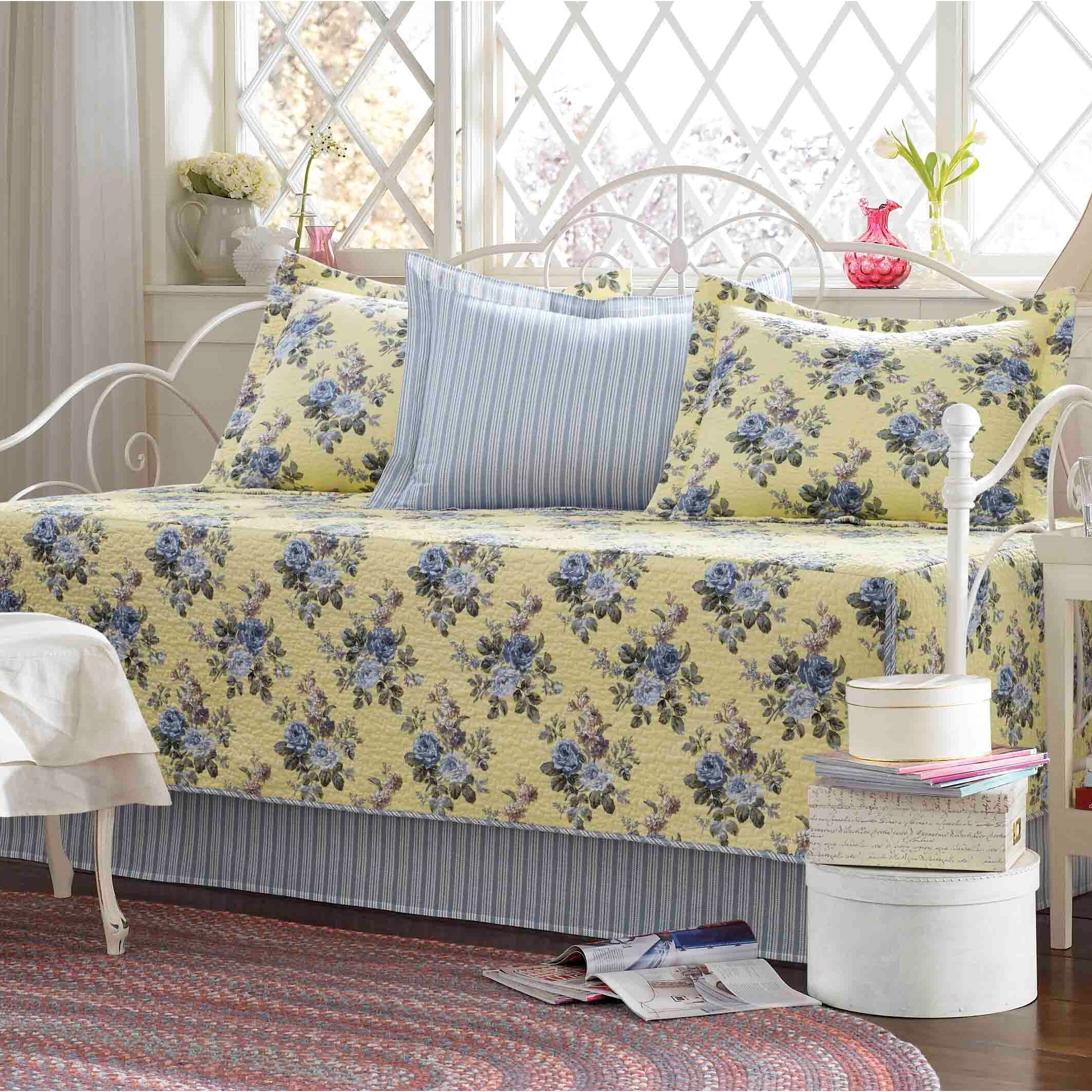 Laura Ashley Home Linley 5 Piece Daybed Cover Set