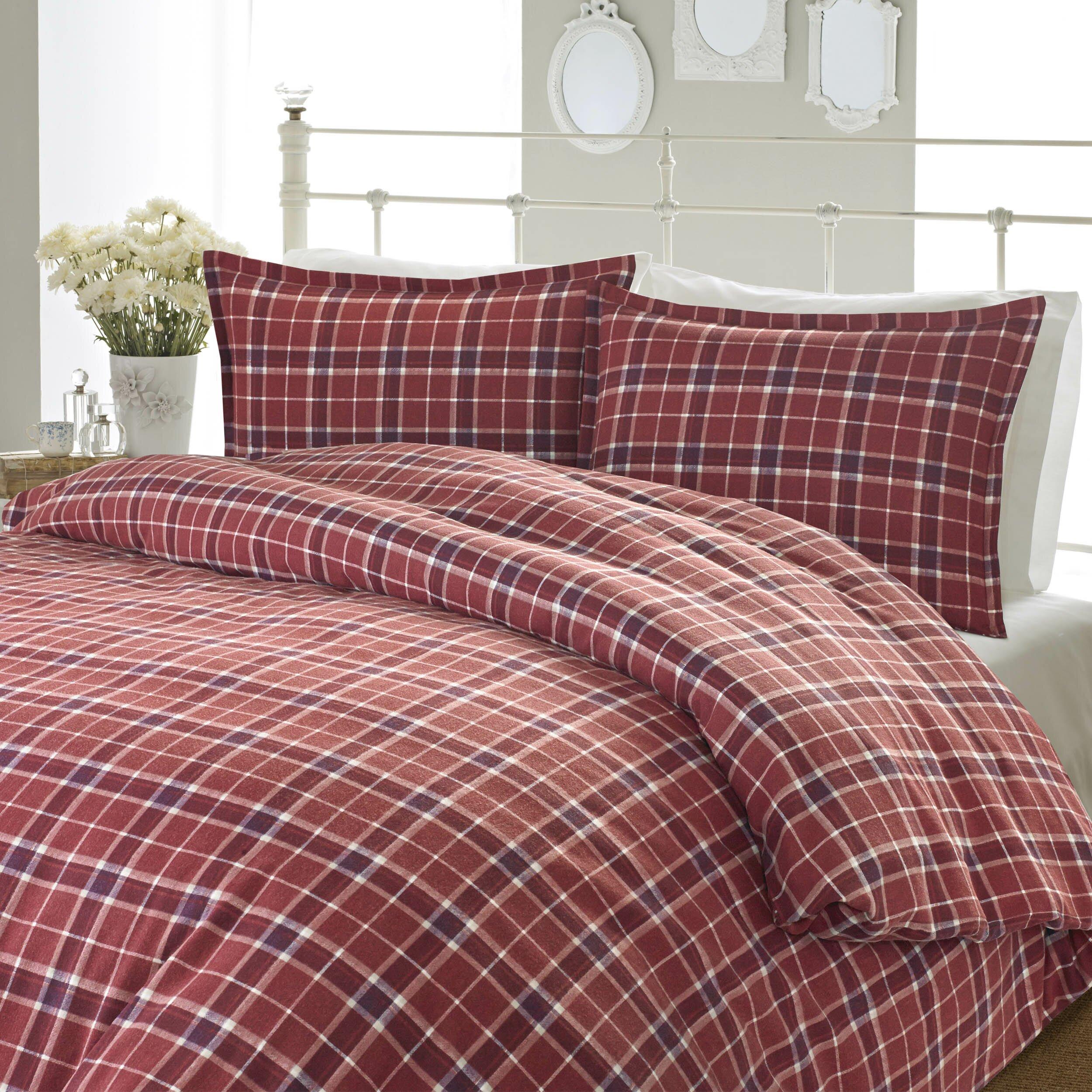 Laura Ashley Flannel Queen Sheet Set: Laura Ashley Home Highland Check Flannel Sheet Set