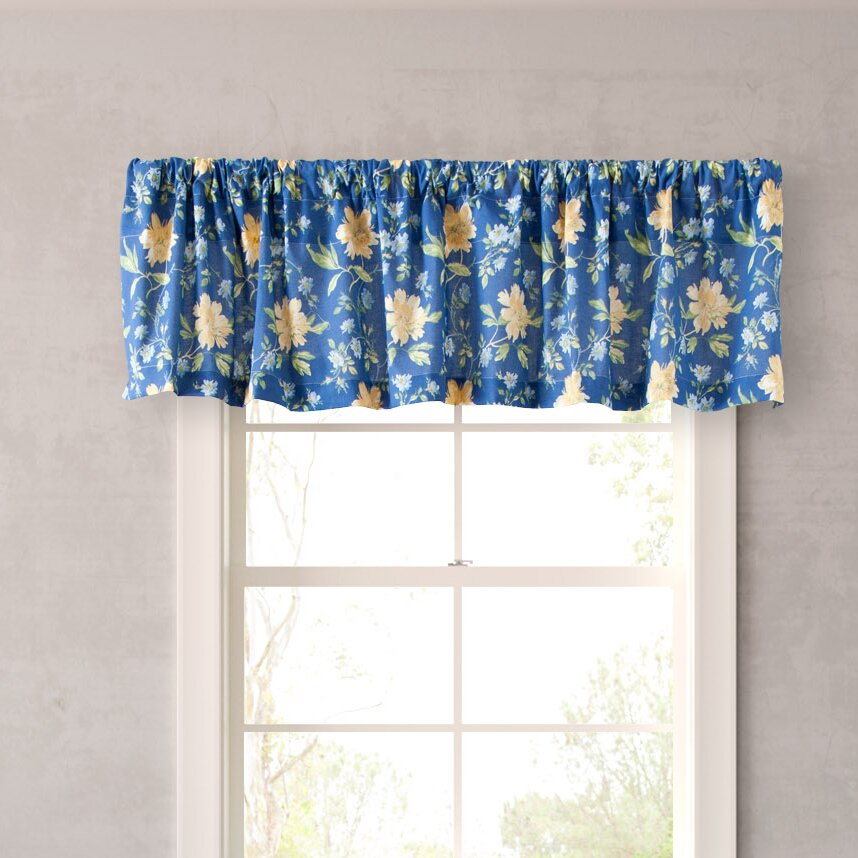 laura ashley home emilie 86 curtain valance reviews. Black Bedroom Furniture Sets. Home Design Ideas