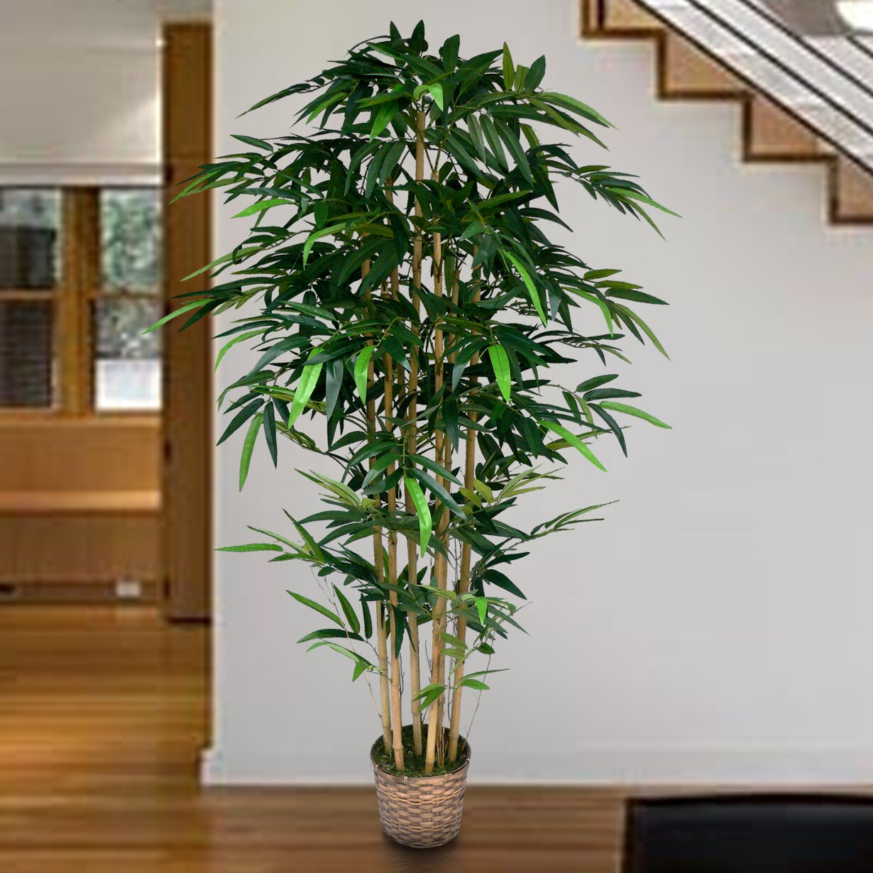Laura Ashley Home Tall High End Realistic Silk Bamboo Tree ...