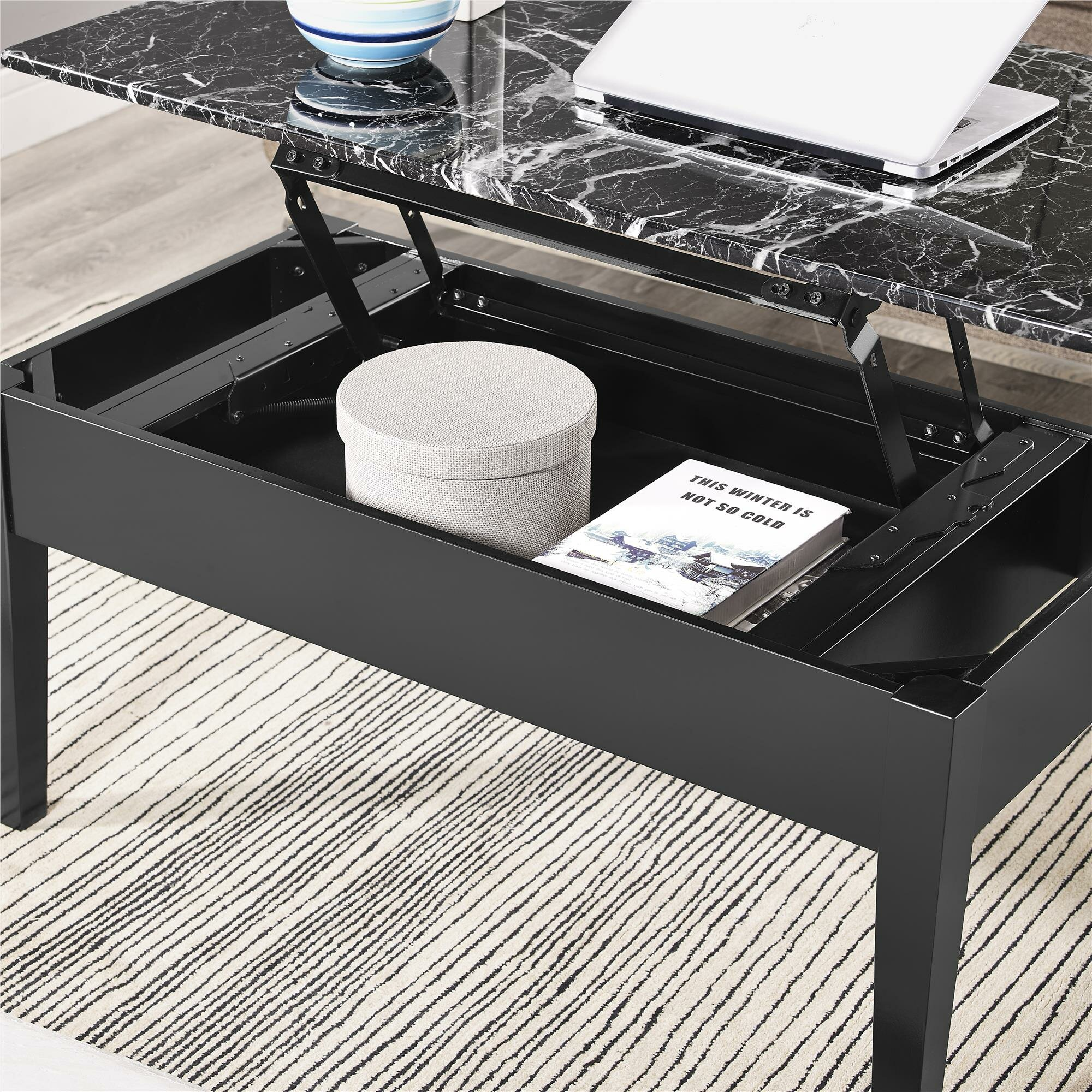 Dorel Asia Faux Marble Lift Top Coffee Table Espresso: Dorel Living Coffee Table With Lift Top & Reviews