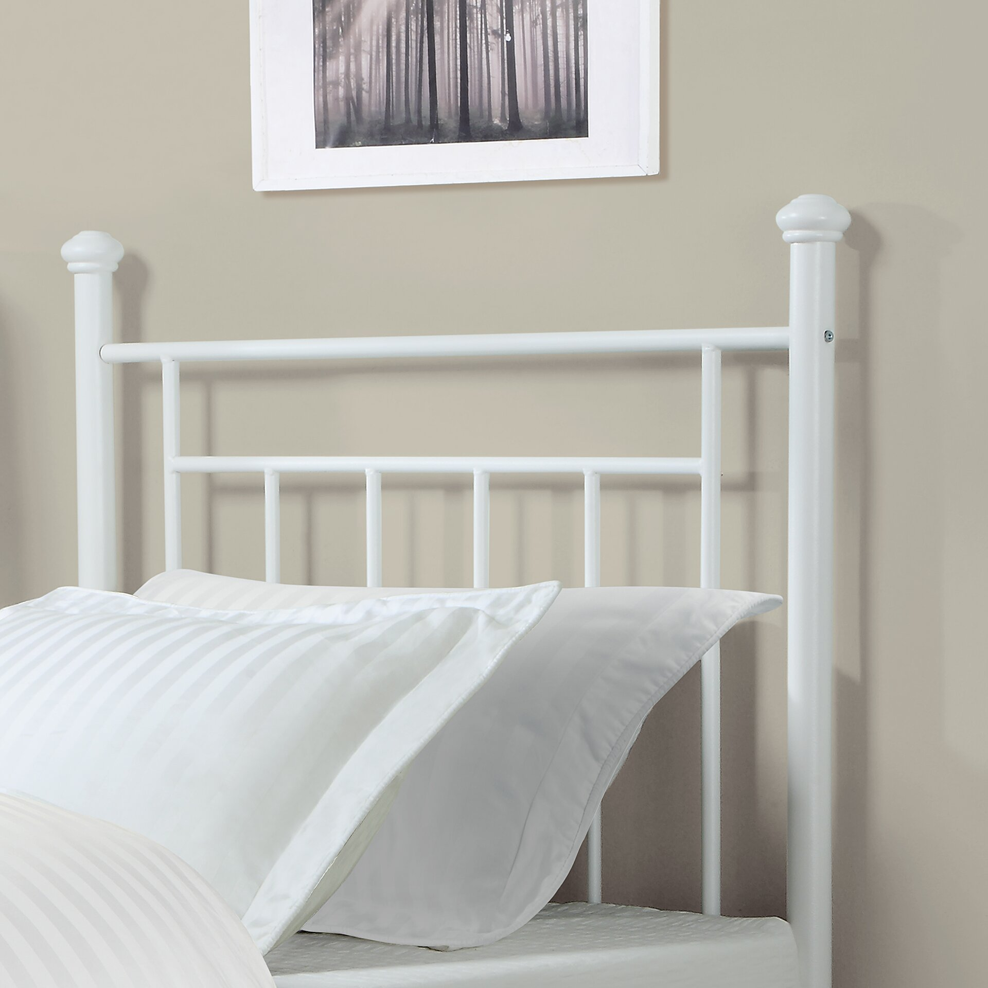 dorel living twin metal headboard reviews wayfair. Black Bedroom Furniture Sets. Home Design Ideas