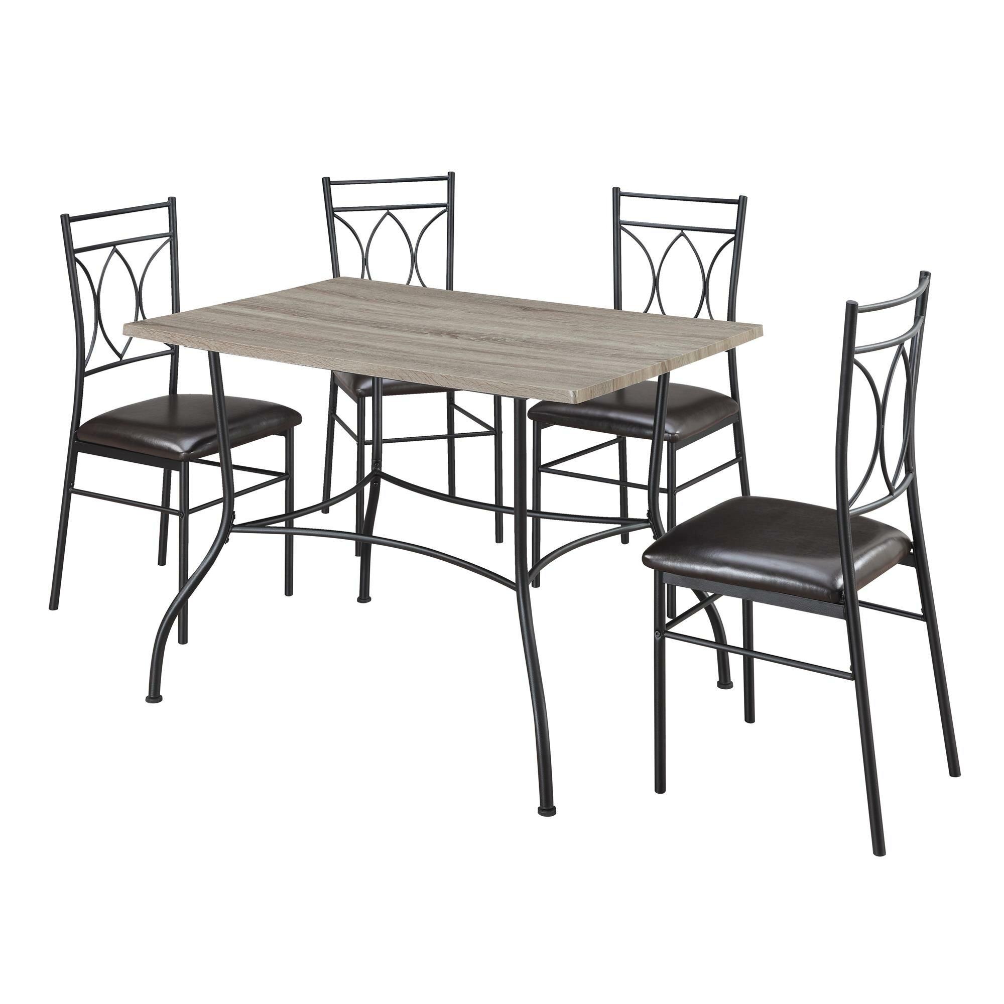 Dorel living shelby 5 piece dining set reviews wayfair for 5 piece living room set
