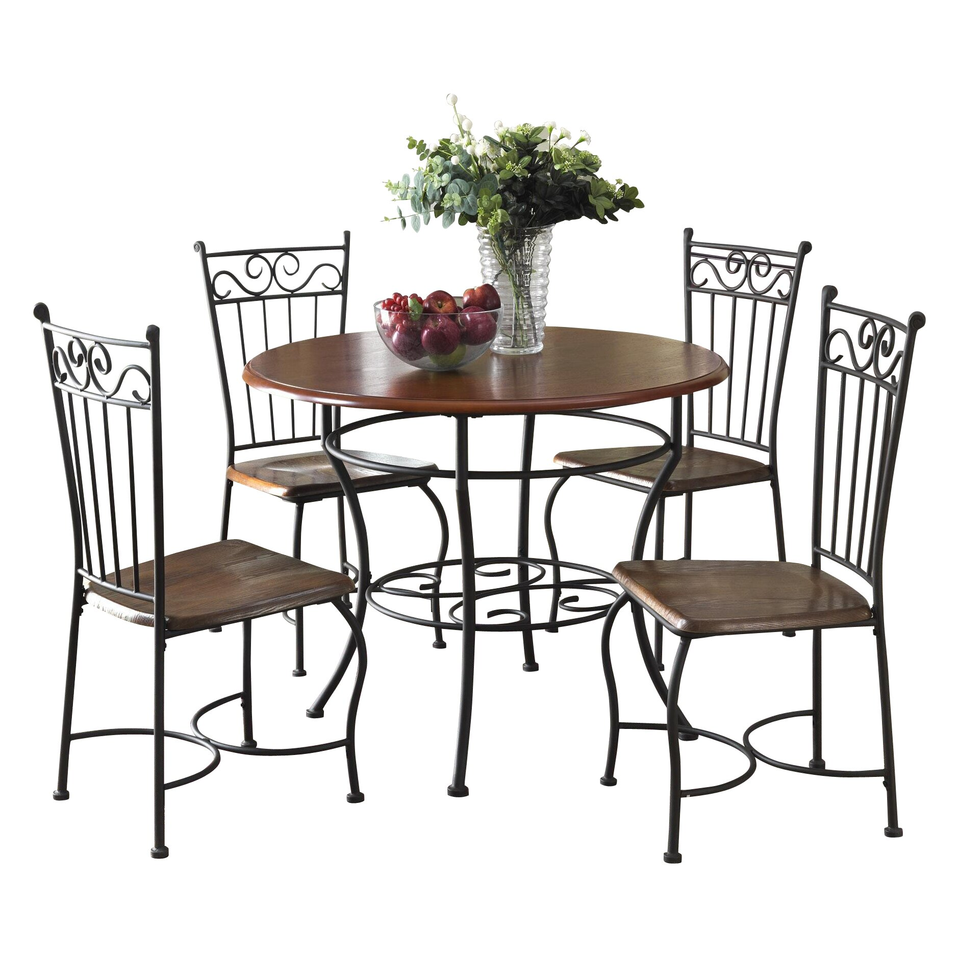Dorel living 5 piece dining set reviews wayfair for Living room 5 piece sets