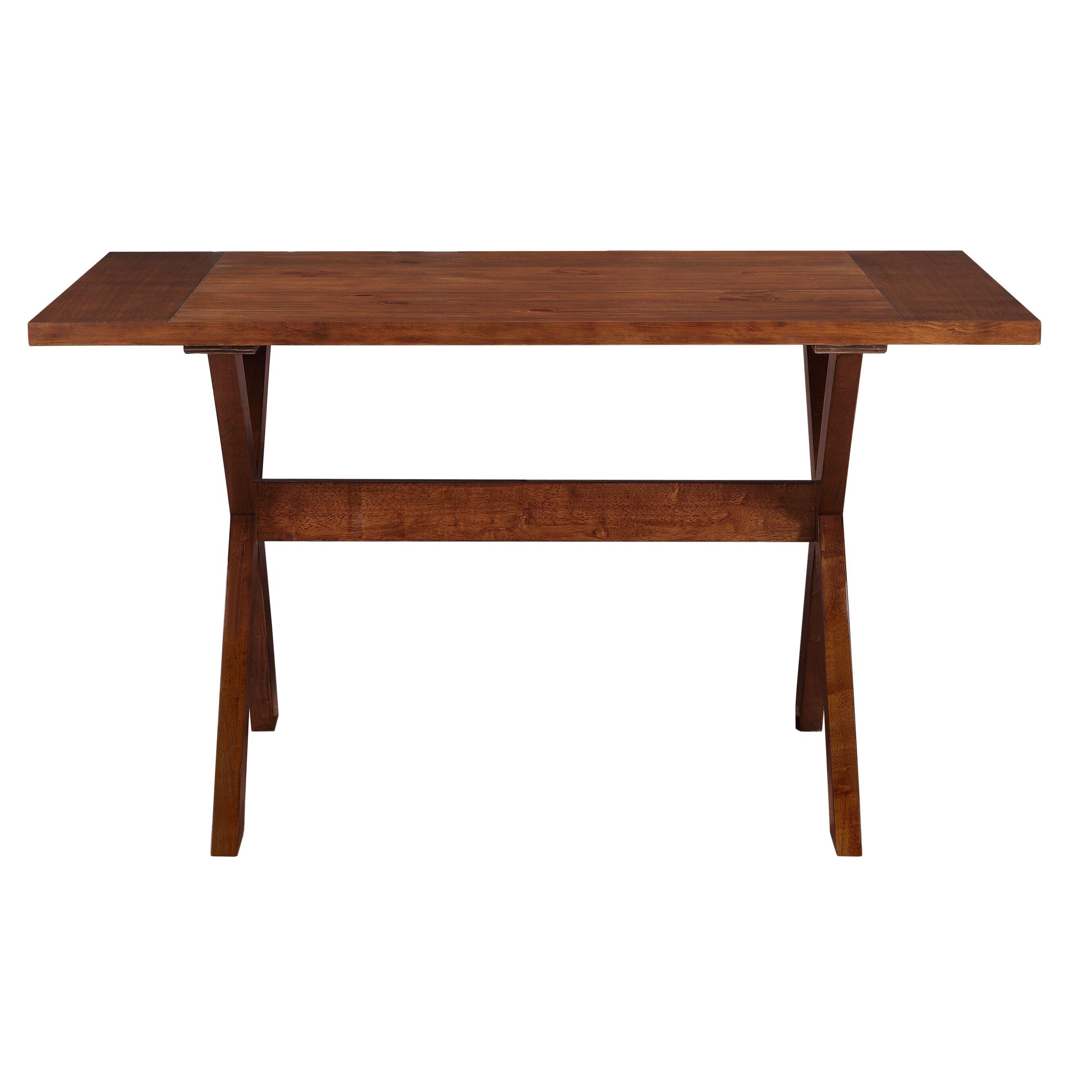 Dorel living trestle dining table reviews wayfair for Trestle dining table