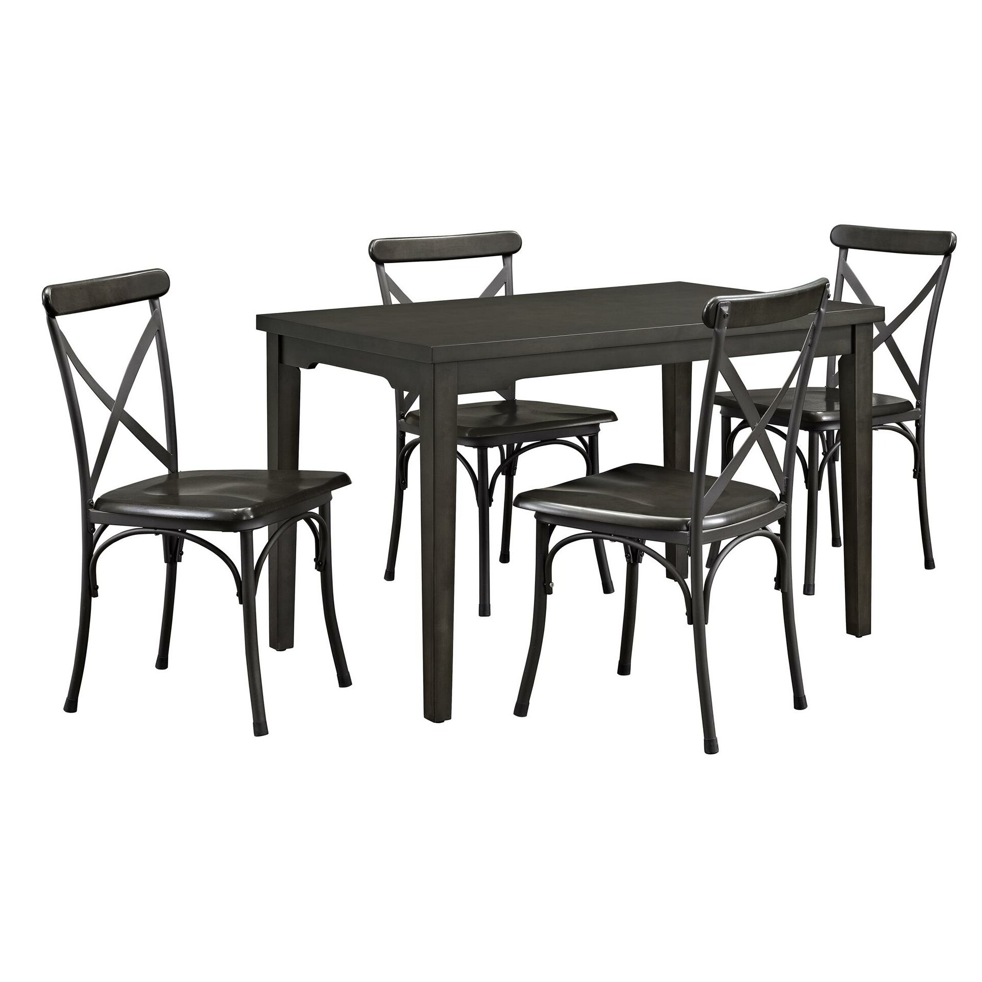 Dorel living parker 5 piece dining set reviews wayfair for 5 piece dining set