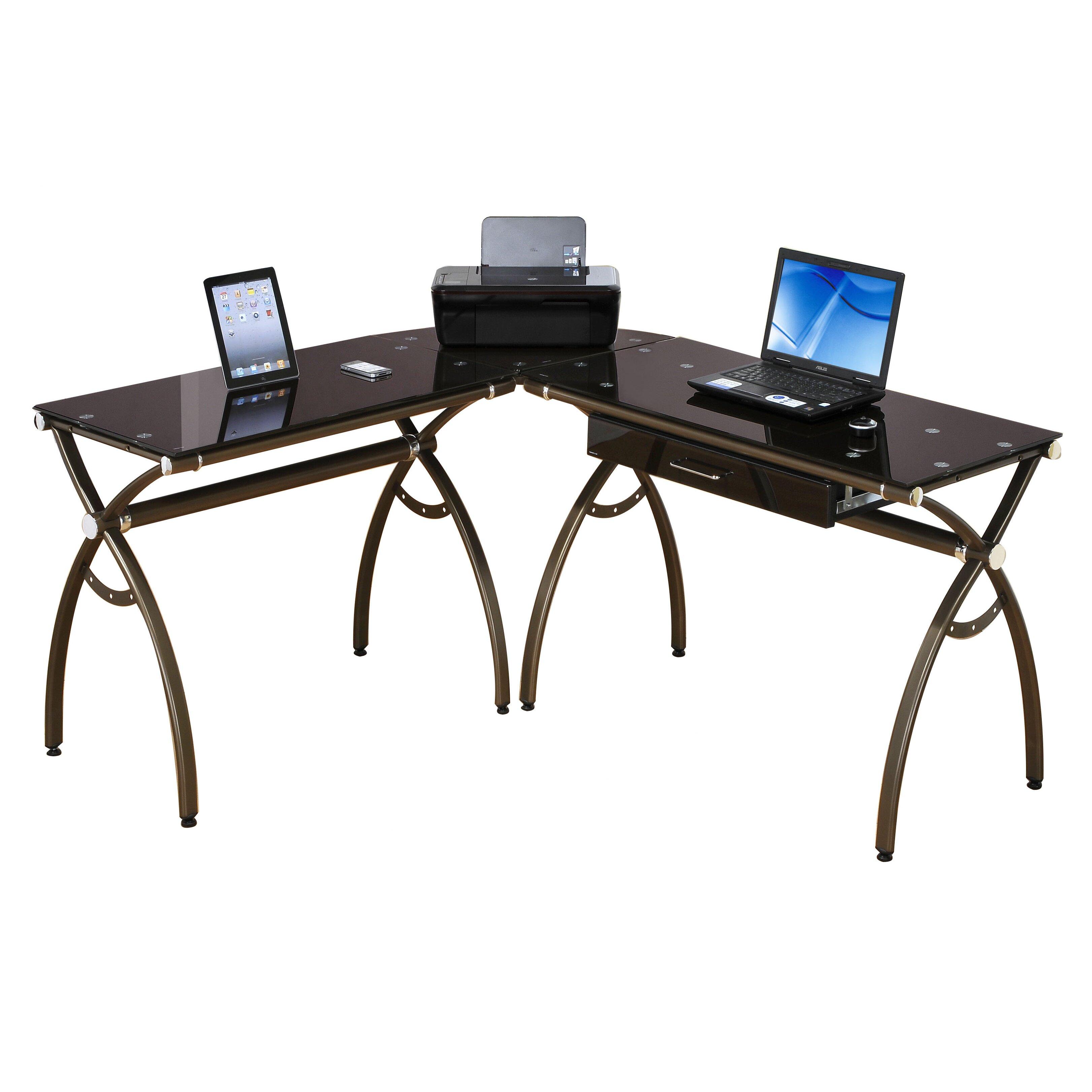 Techni Mobili L Shaped Computer Desk Amp Reviews Wayfair