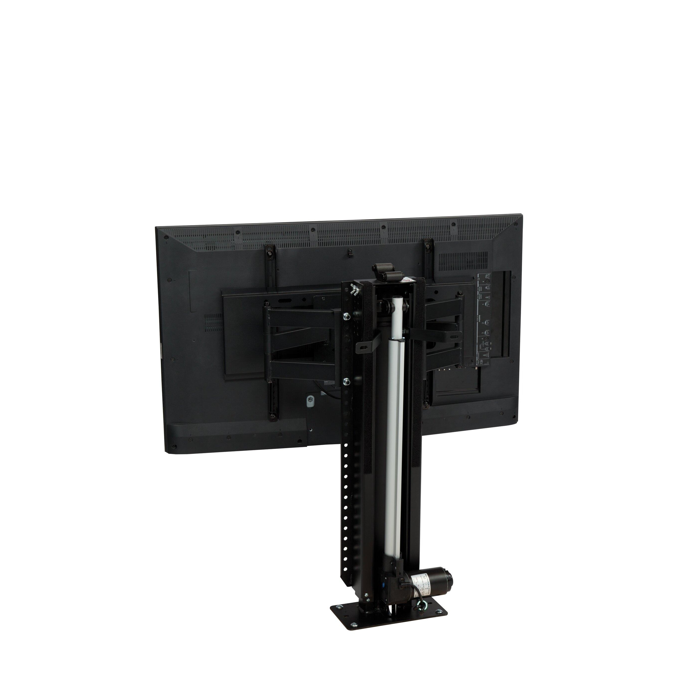 Touchstone whisper lift ii pro swivel motorized floor for Motorized tv lift with swivel