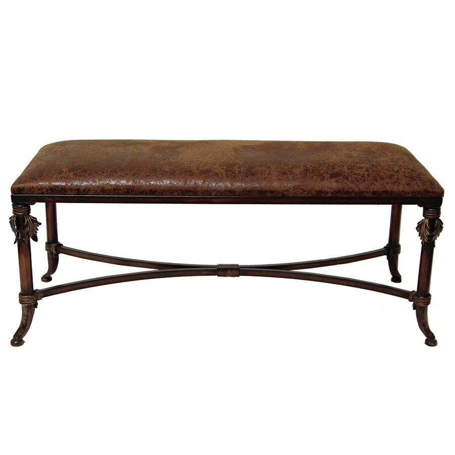 Foyer Leather Bench : Selectives leather entryway bench reviews wayfair