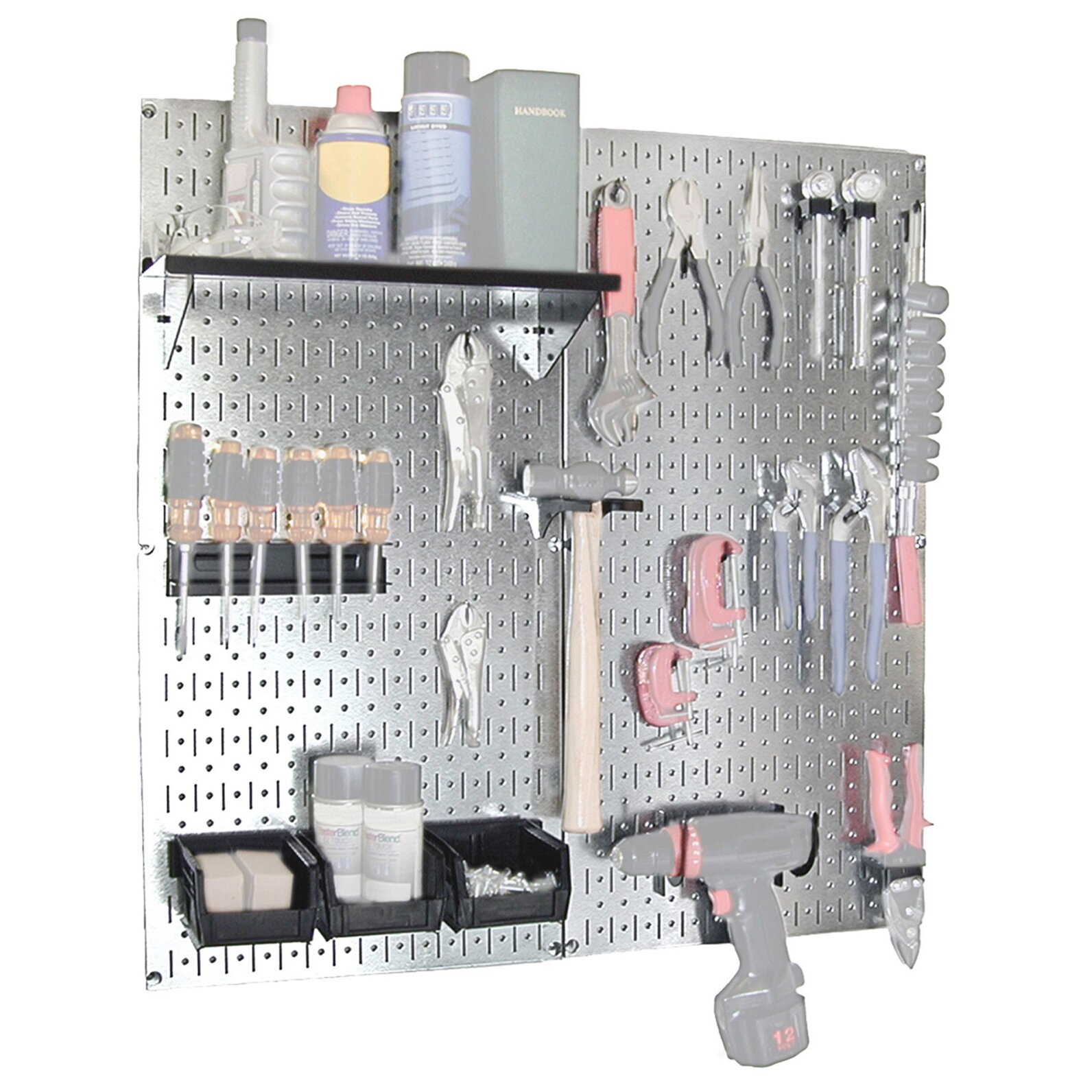 Wall Control Utility Tool Storage And Garage Pegboard