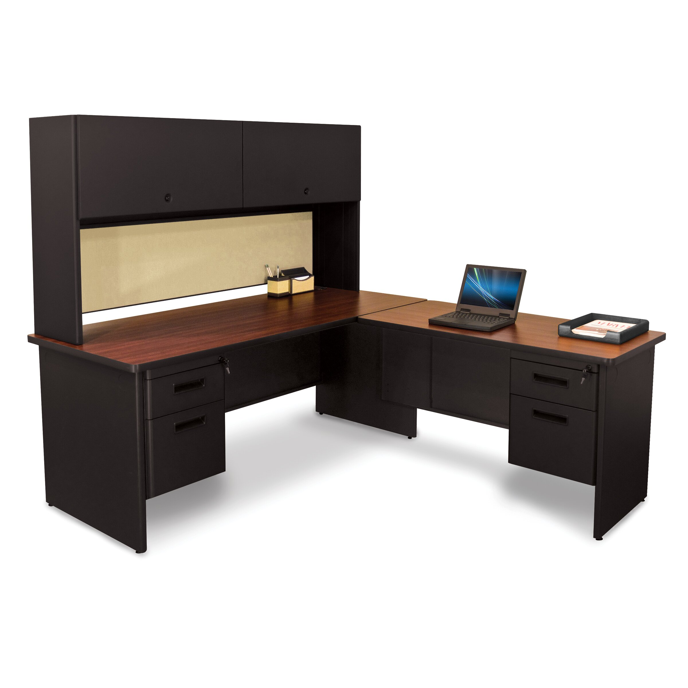 Marvel Office Furniture Pronto L-Shape Executive Desk With