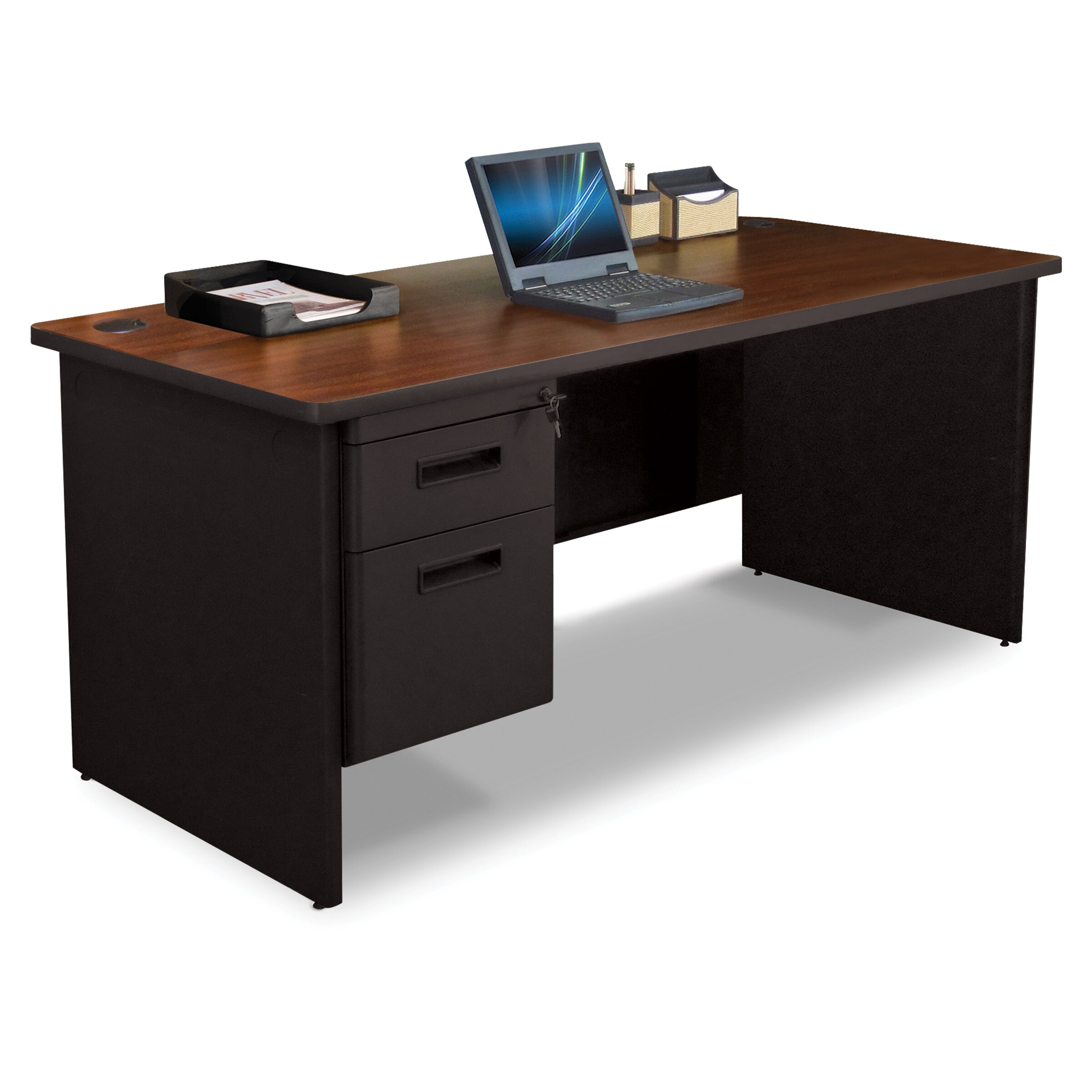 Marvel Office Furniture Pronto Executive Desk With Single