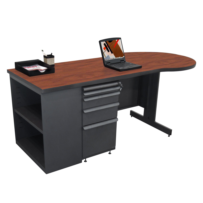 Marvel office furniture zapf computer desk with bookcase for Wayfair shop furniture