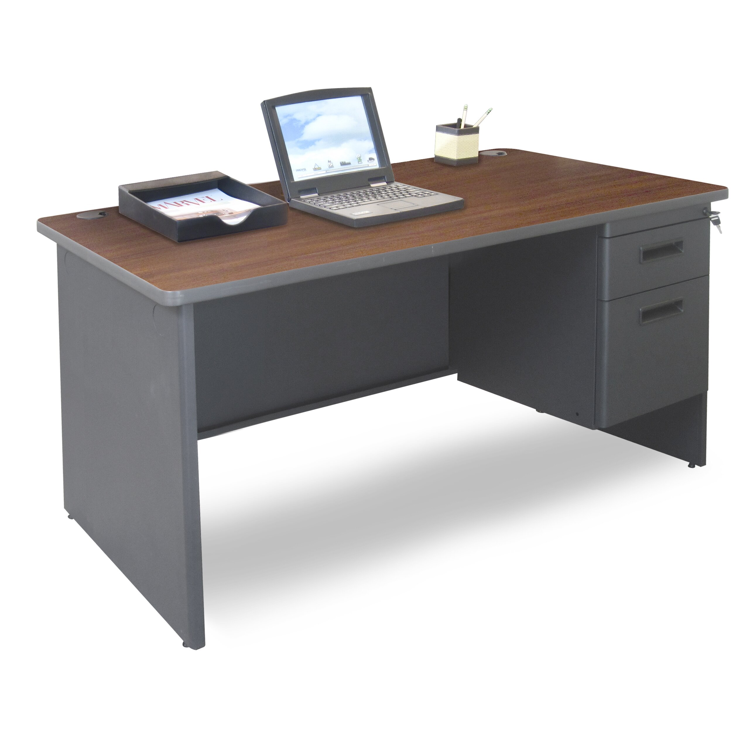 Marvel Office Furniture Pronto Single Pedestal Computer