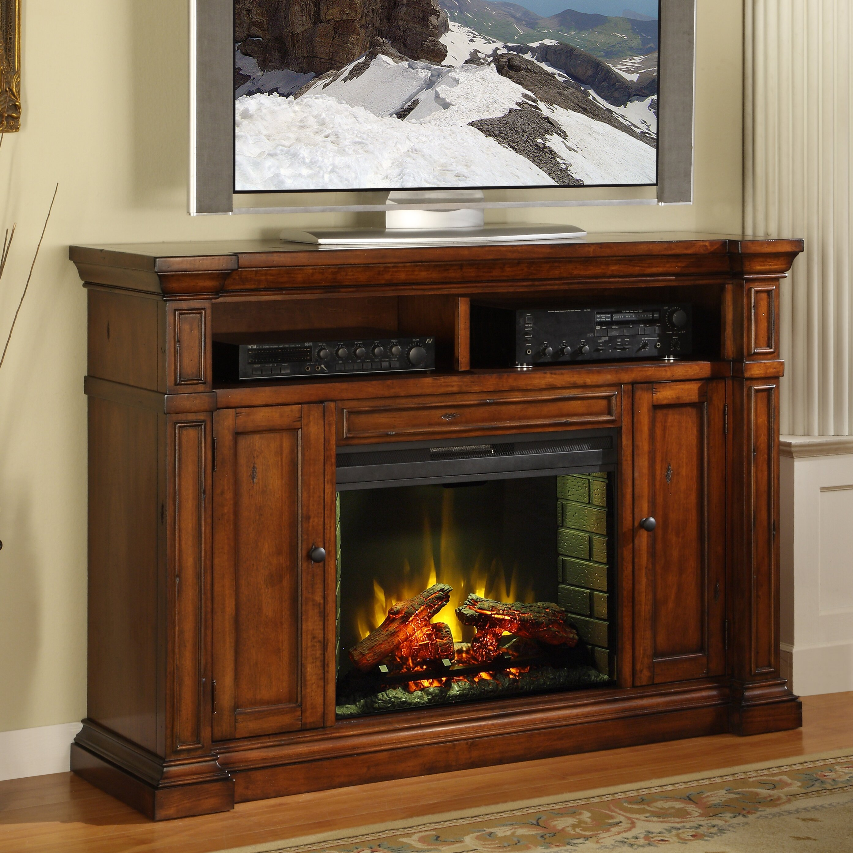 legends furniture berkshire tv stand with electric