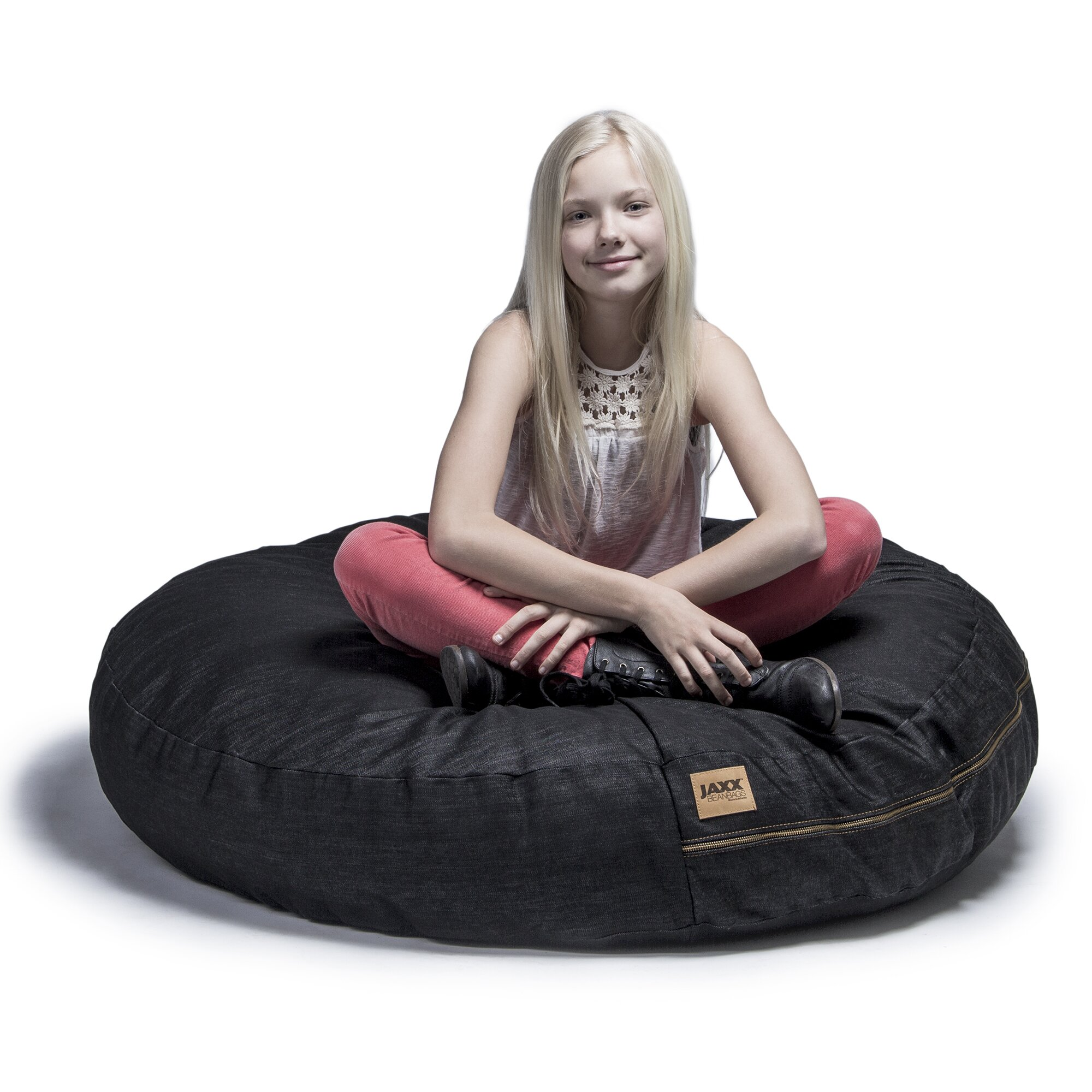 jaxx denim cocoon 4 39 bean bag chair wayfair. Black Bedroom Furniture Sets. Home Design Ideas