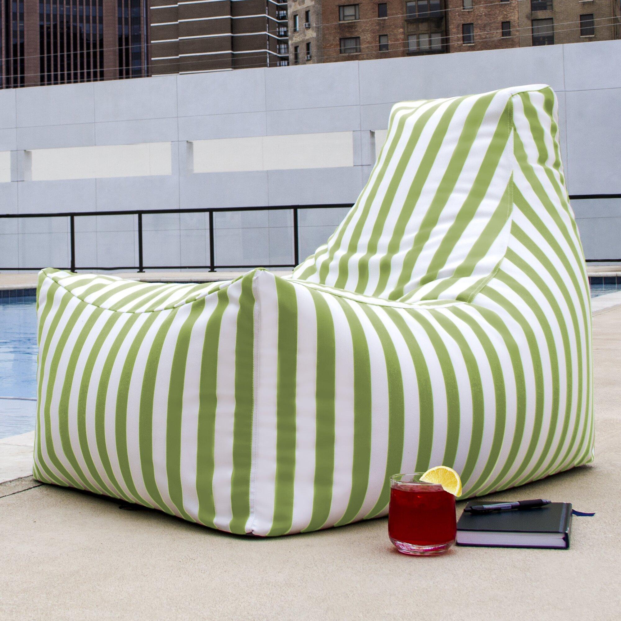 Jaxx Juniper Outdoor Striped Bean Bag Chair & Reviews