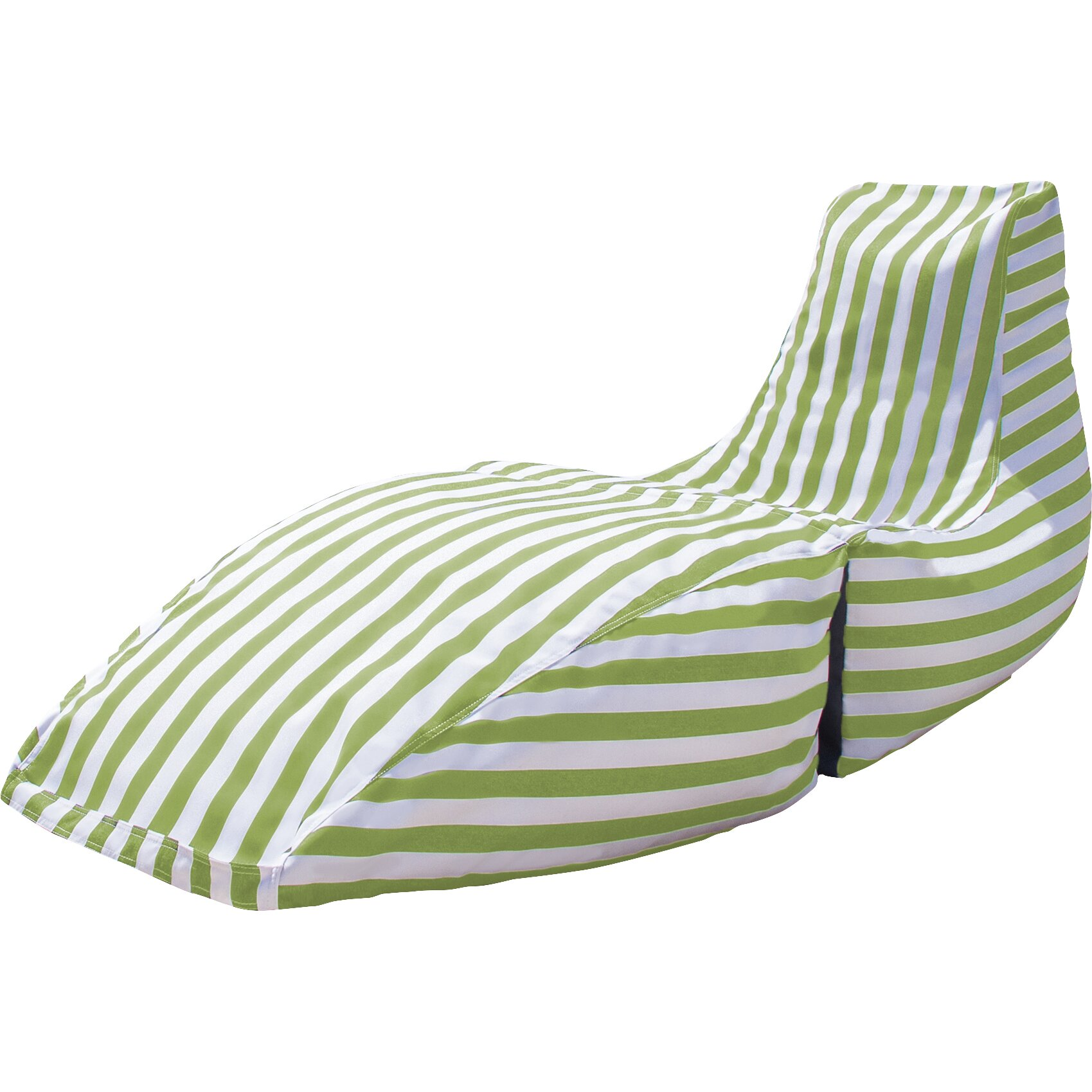 Jaxx prado outdoor striped bean bag chaise lounge chair for Bean bag chaise longue