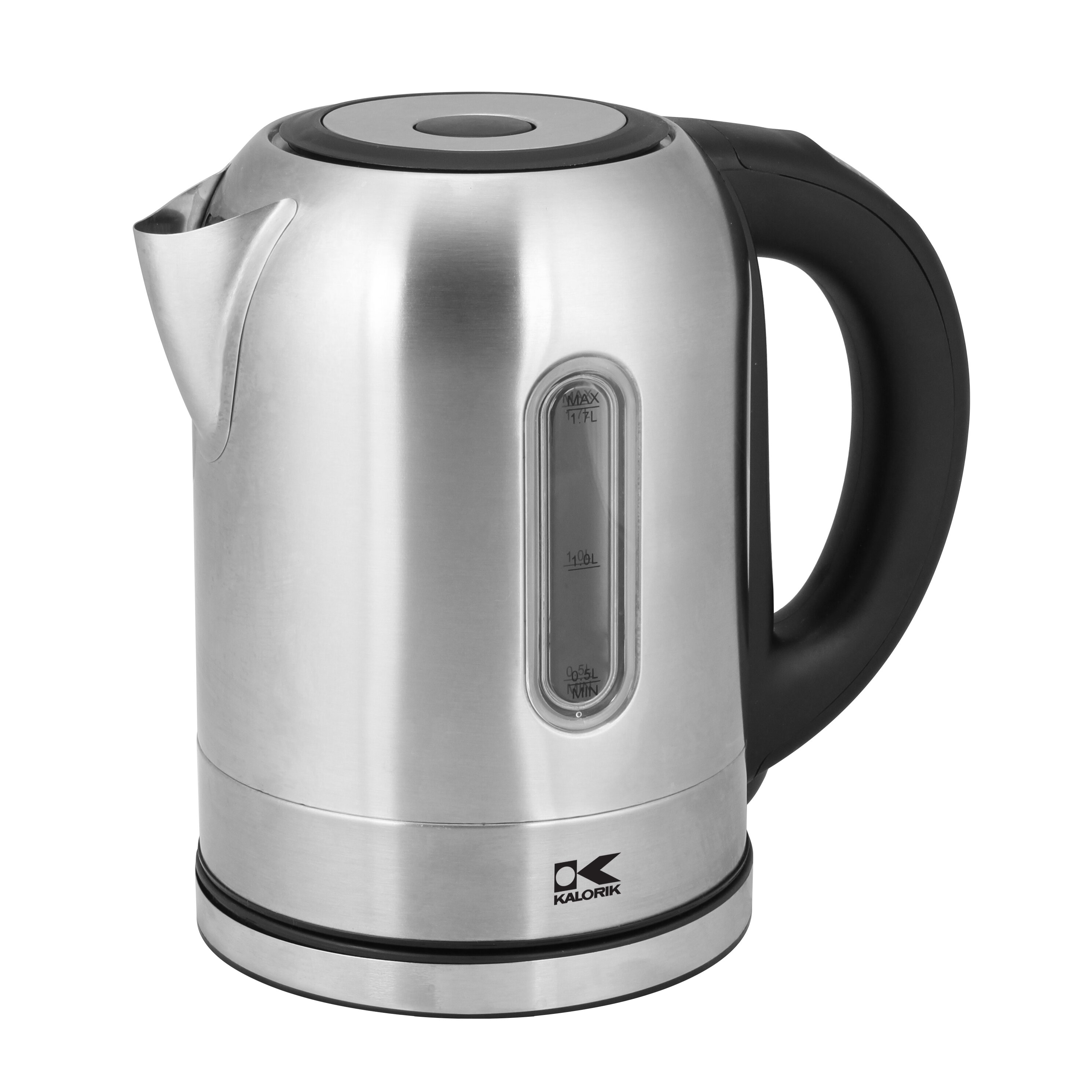 Stainless Electric Kettle ~ Kalorik qt stainless steel electric tea kettle in